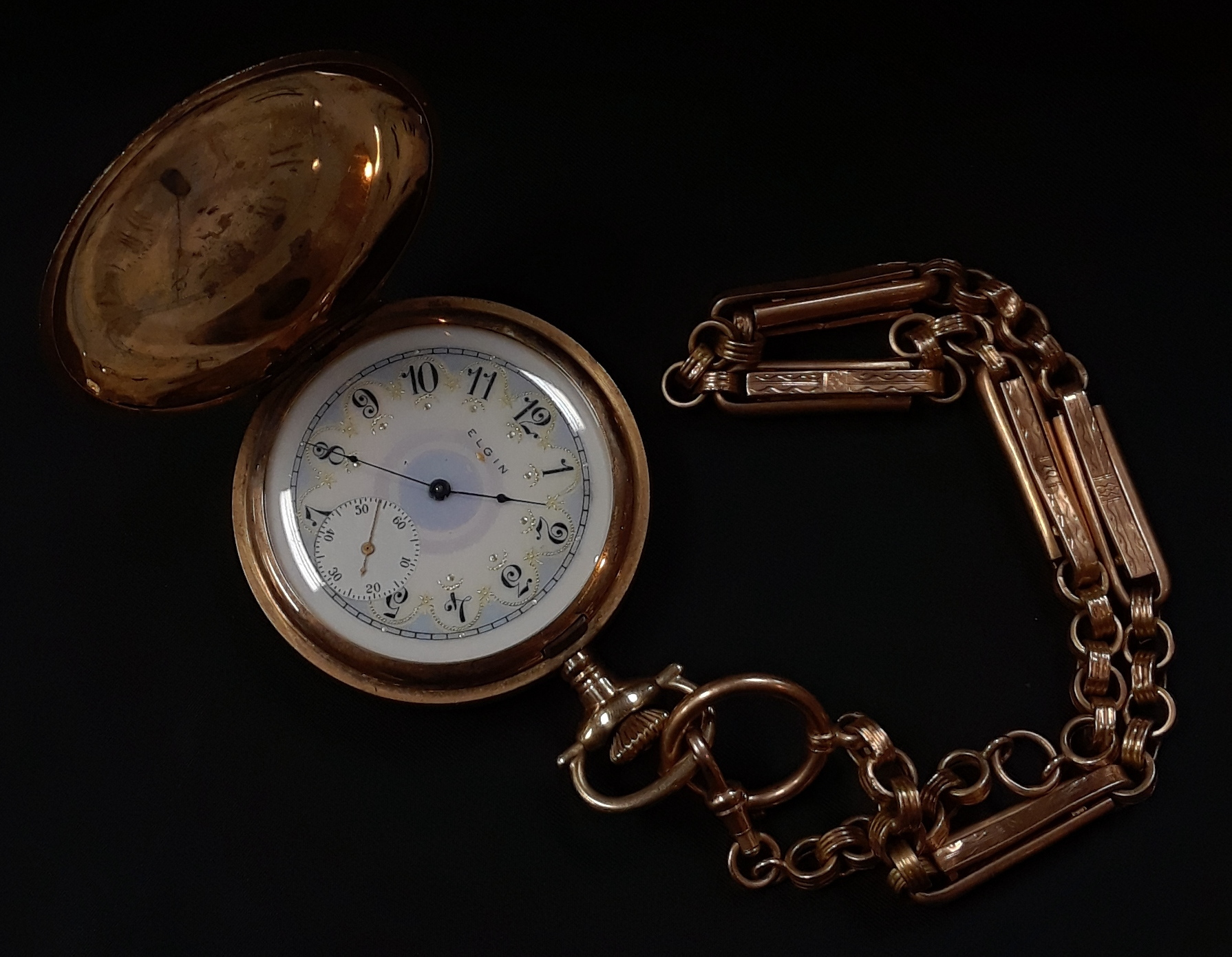 ELGIN POCKET WATCH WITH 15 RUBY JEWELS - MODEL: 6