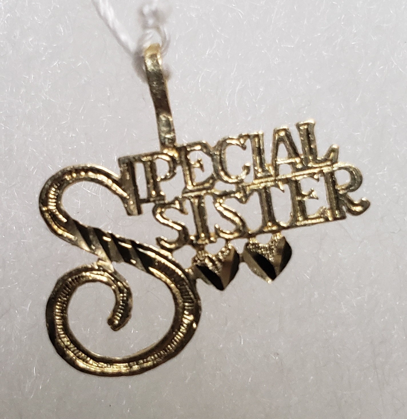 14KT - YELLOW GOLD - SPECIAL SISTER CHARM
