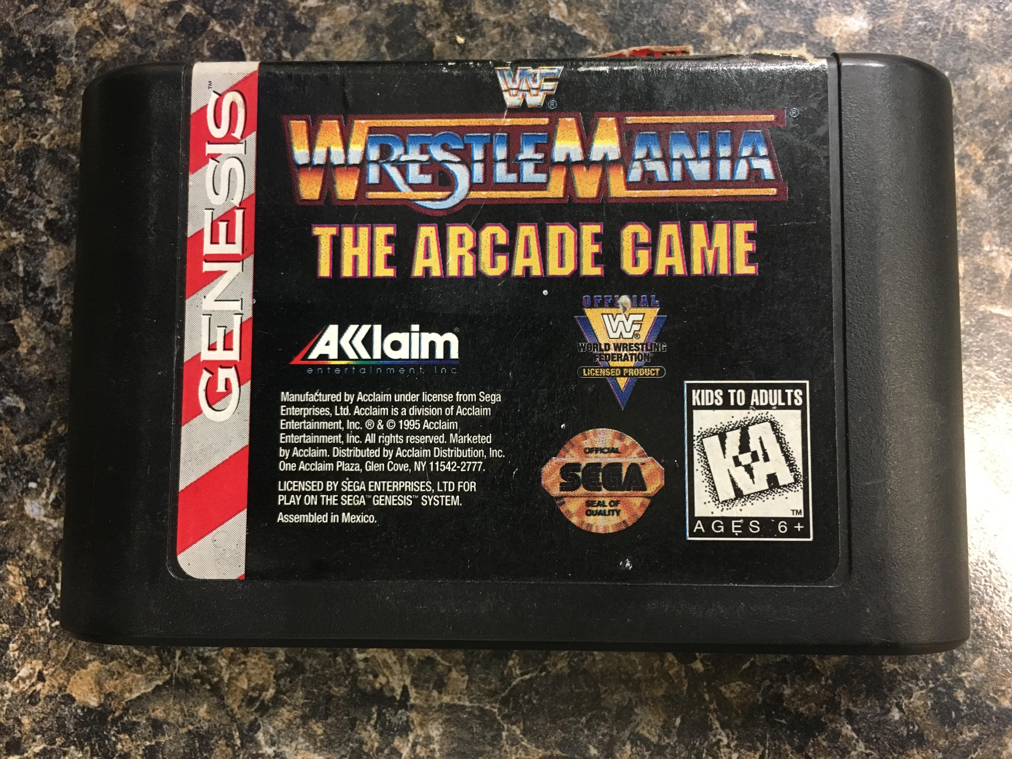 SEGA GENESIS GAME: WRESTLE MANIA THE ARCADE