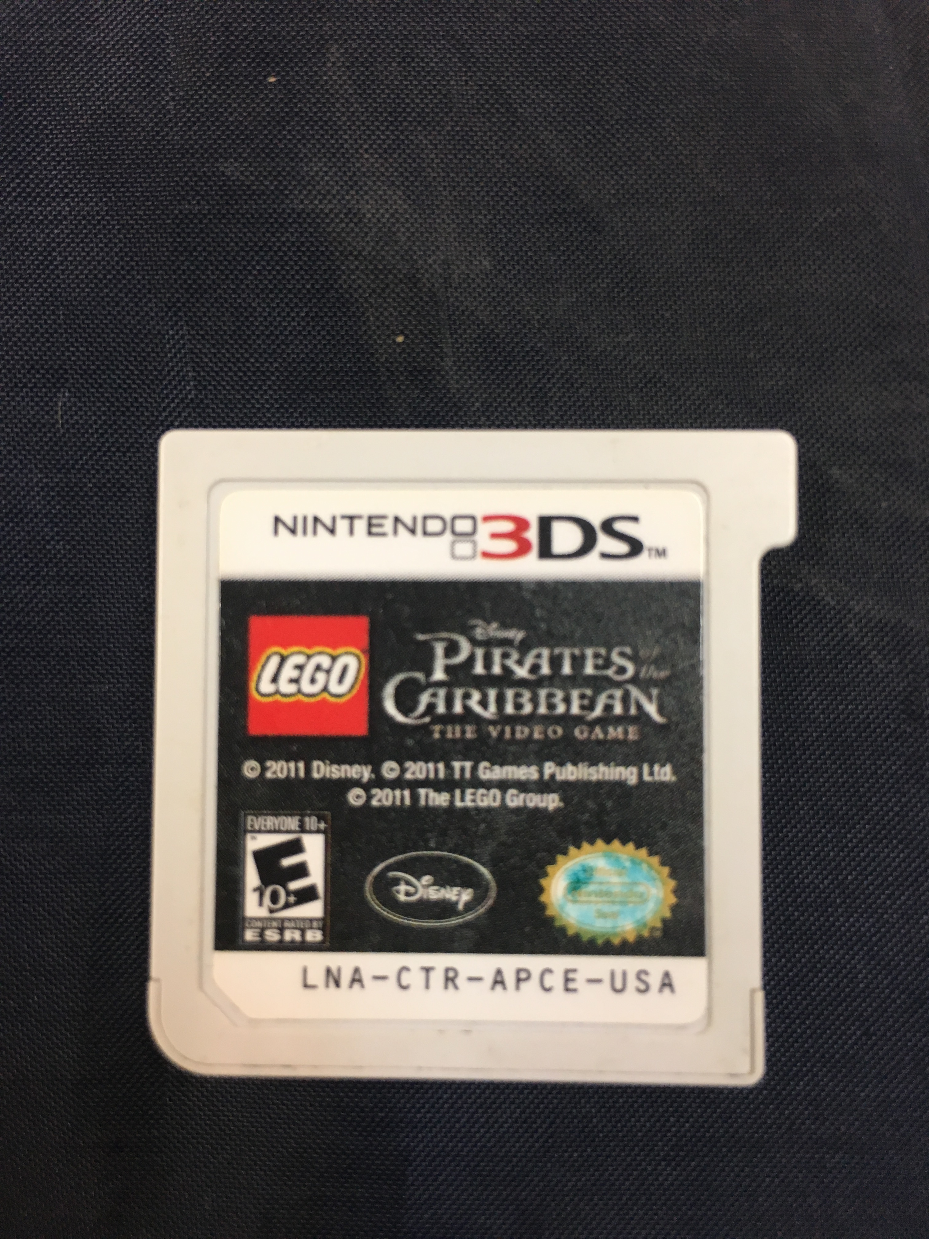 NINTENDO 3DS GAME:  PIRATES OF THE CARIBBEAN THE VIDEO GAME