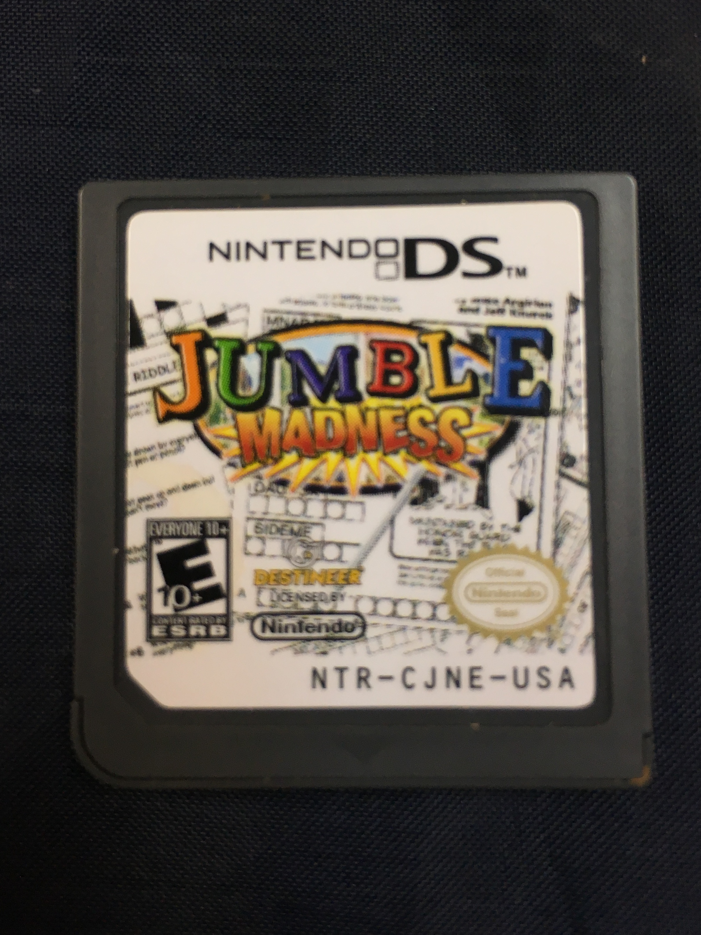 NINTENDO DS GAME - JUMBLE MADNESS