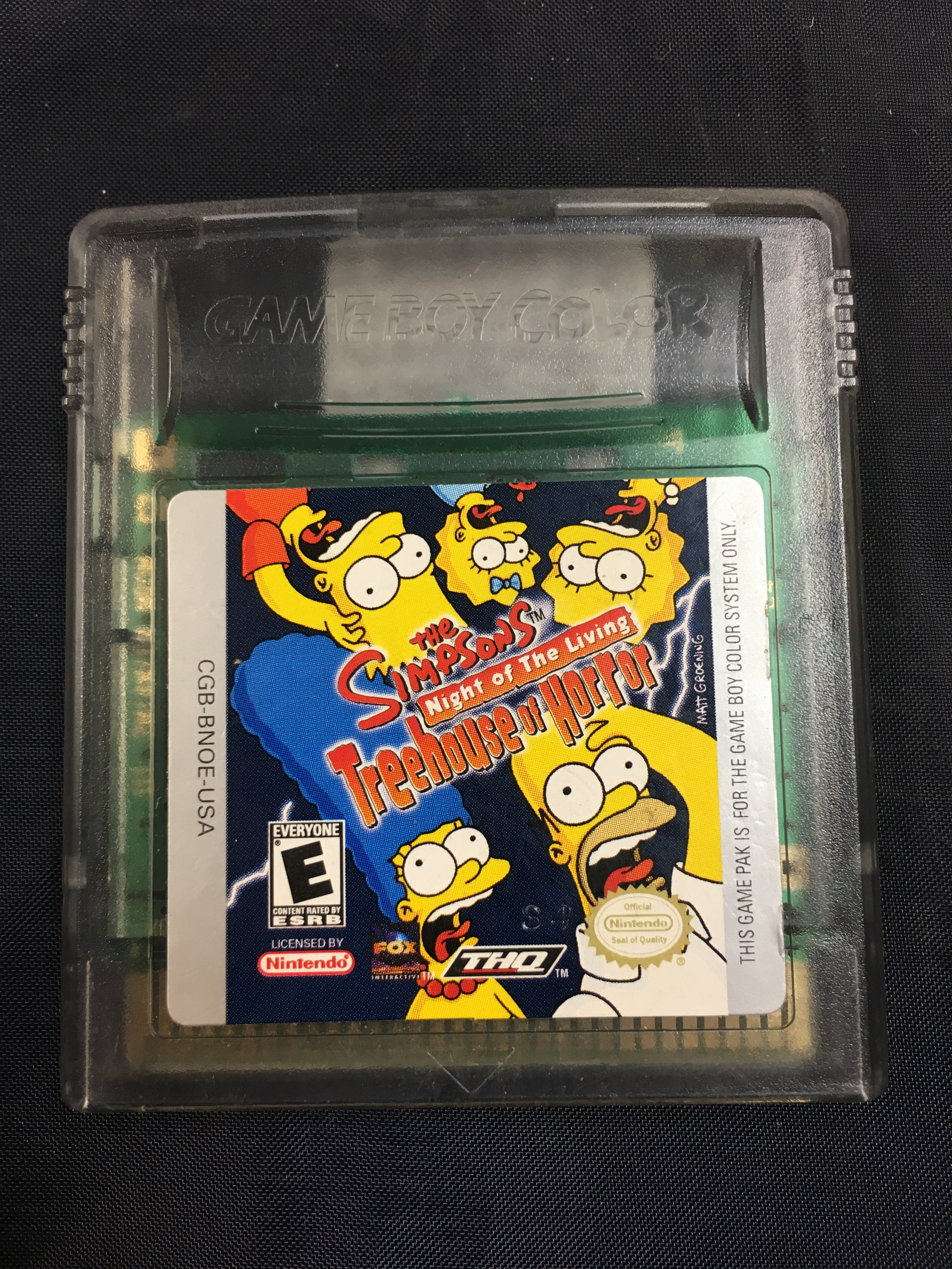 GAMEBOY COLOR GAMES - THE SIMPSONS: NIGHT OF THE LVIING TREEHOUSE HORROR