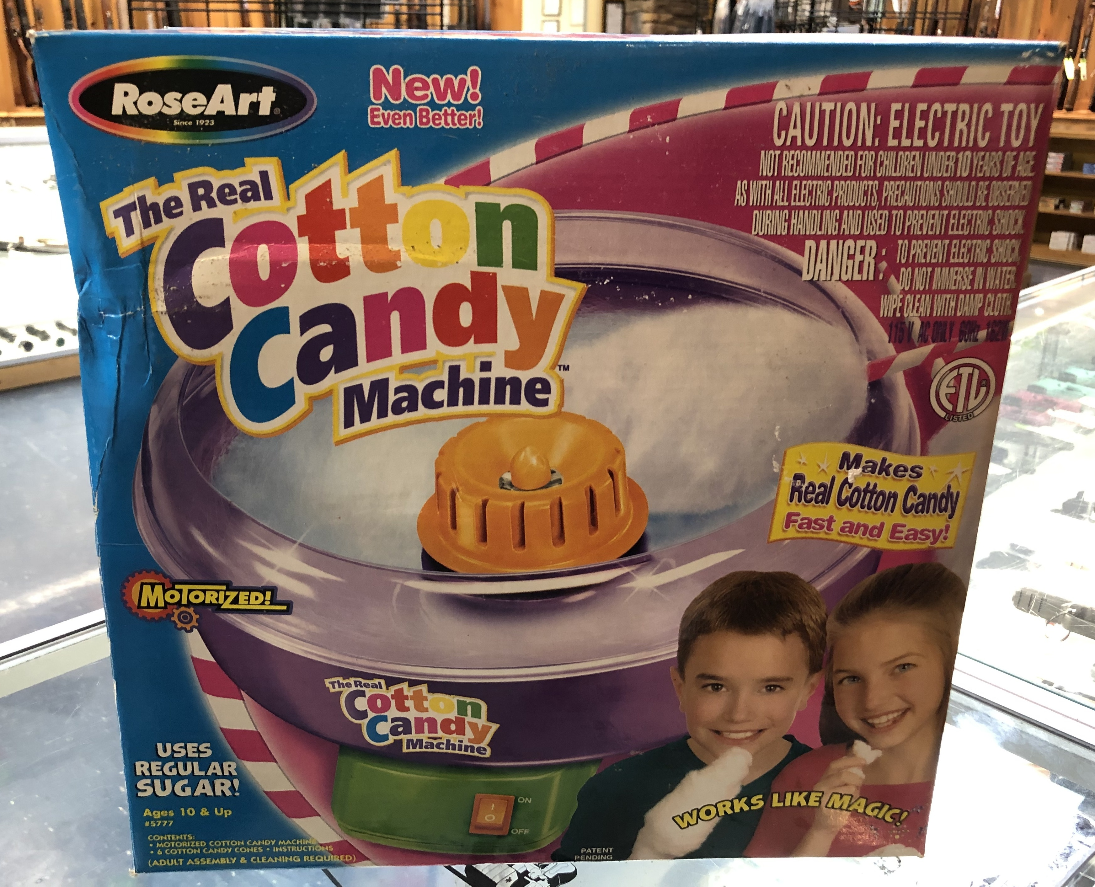COLLECTIBLES: ROSE ART - COTTON CANDY MACHINE