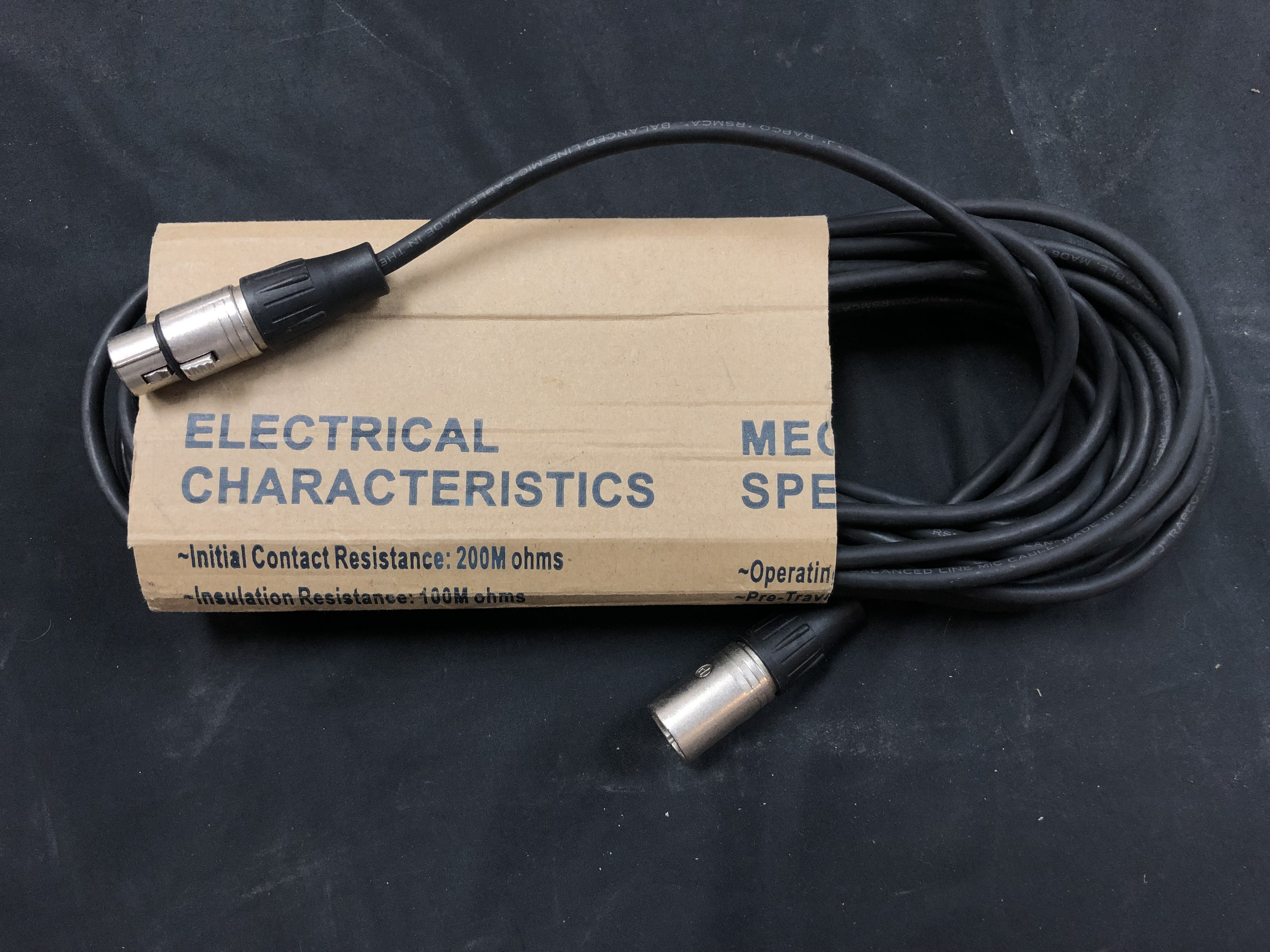 ELECTRONICS: 25 FT XLR MICROPHONE CABLE