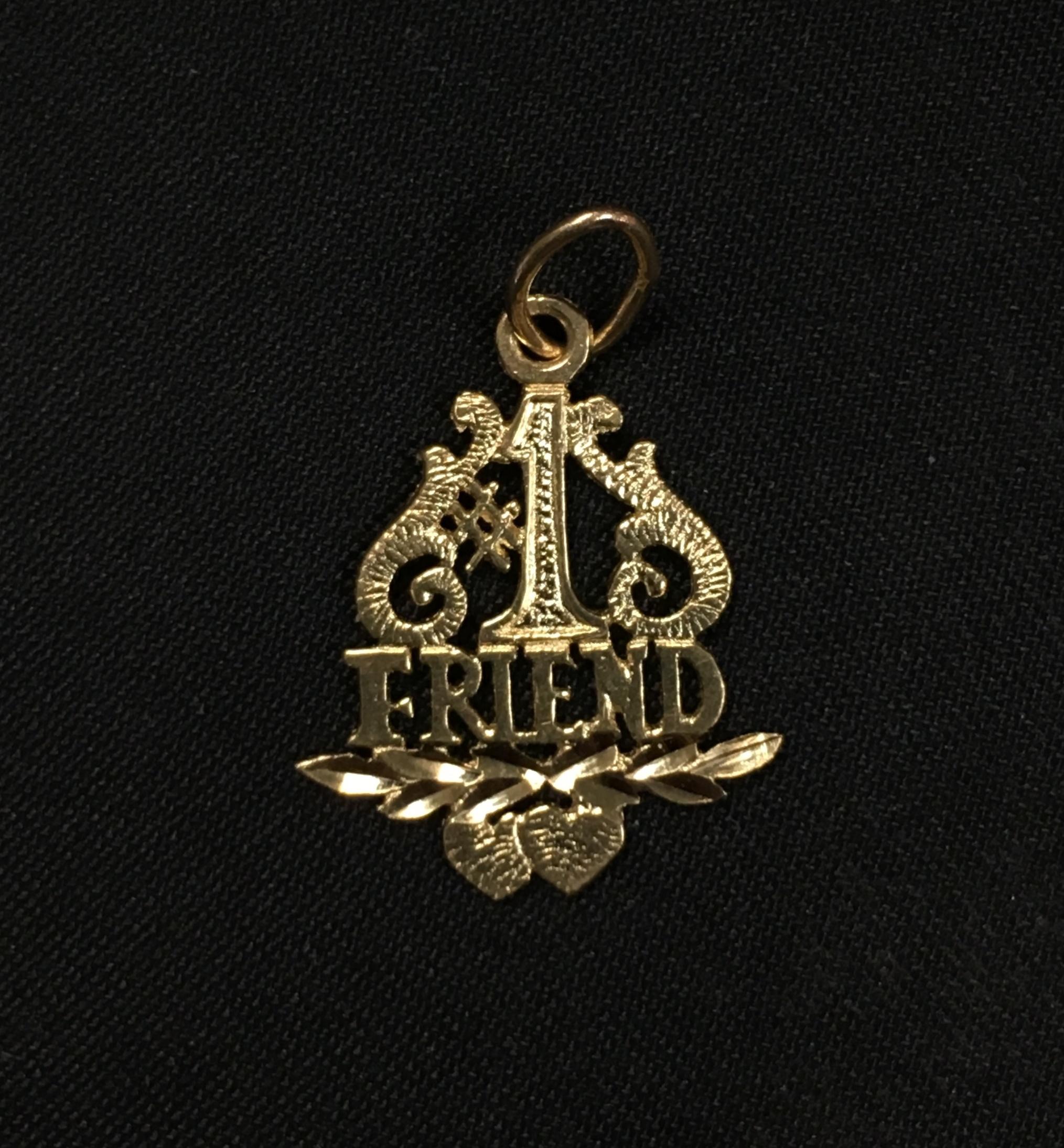 14KT YELLOW GOLD #1 FRIEND CHARM