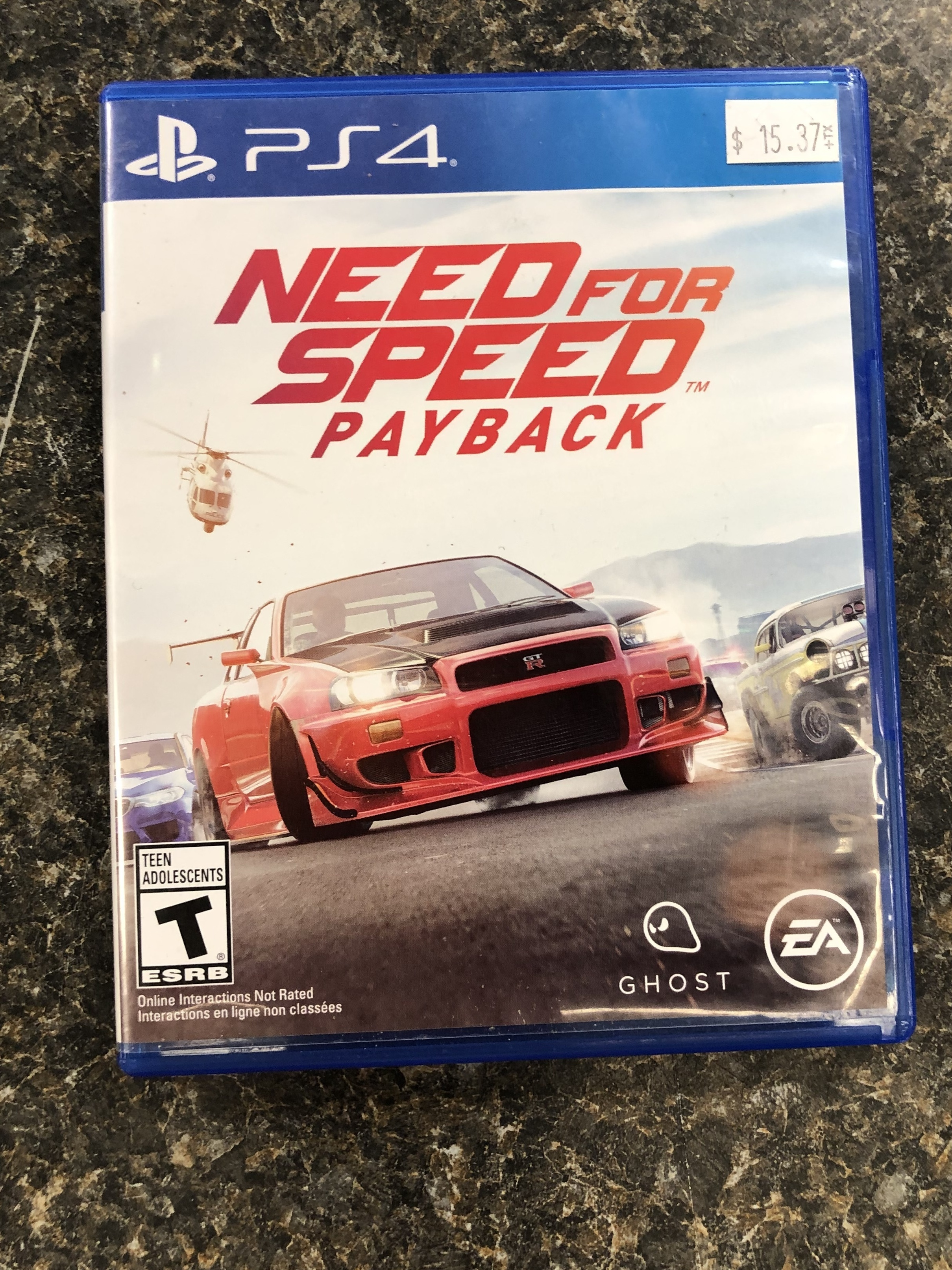 GAMES: PS4 GAME - NEED FOR SPEED PAYBACK