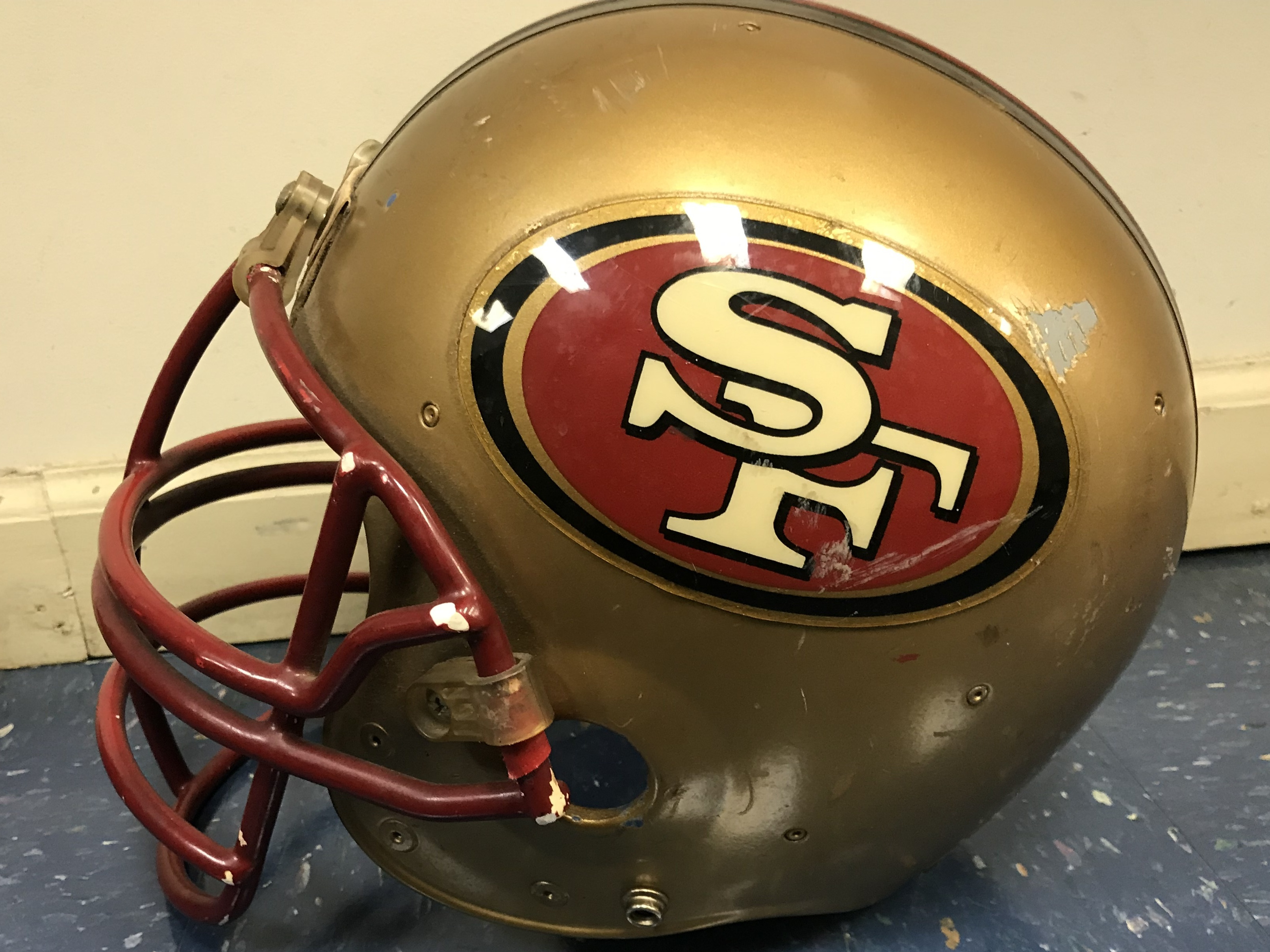 SF 49ERS COLLECTIBLE HELMET