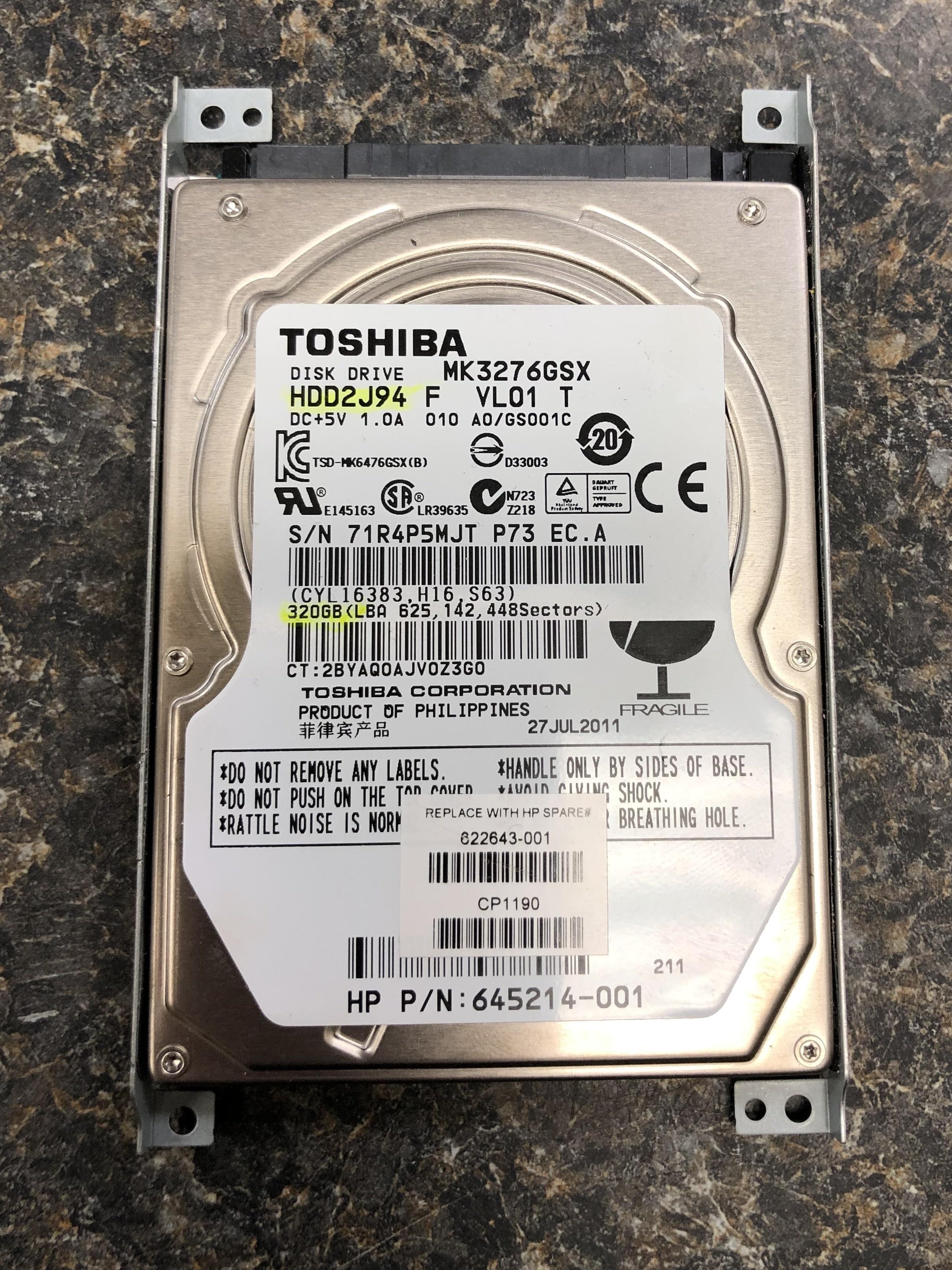 Toshiba 5.4K 8MB Cache SATA-II 2.5