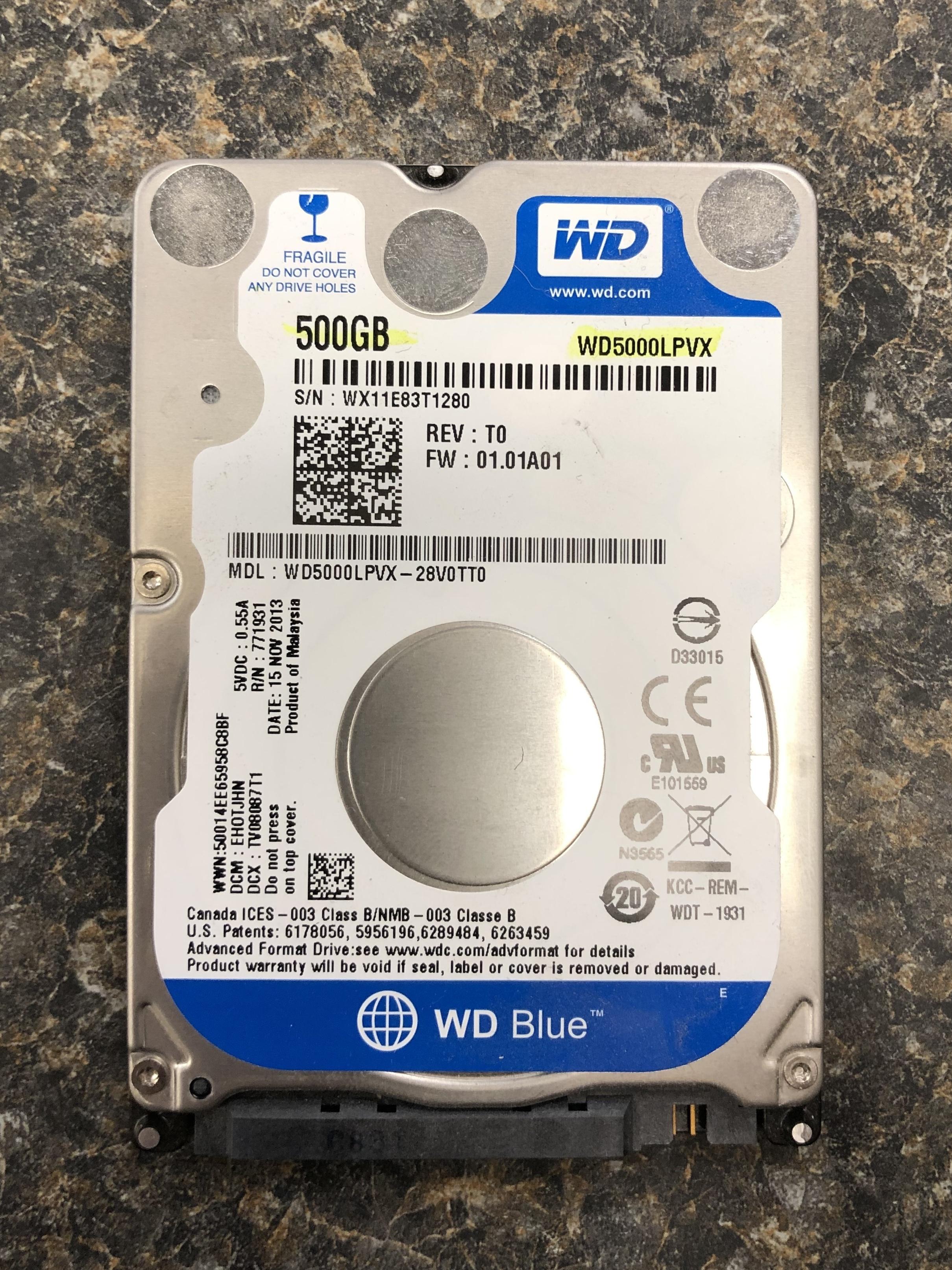 WESTERN DIGITAL Blue 500 GB Internal HDD - WD5000LPVX