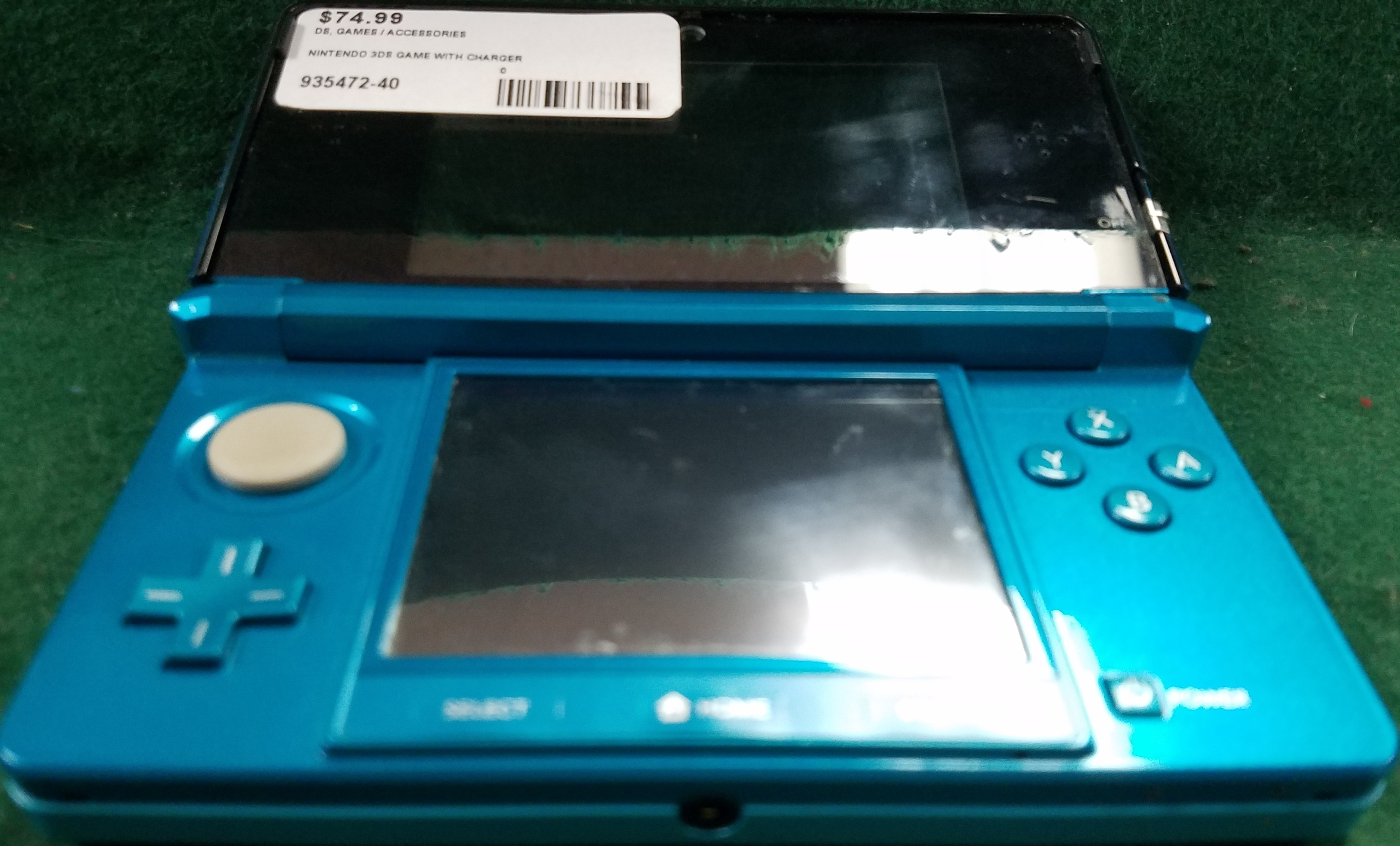 NINTENDO TURQUOISE 3DS GAME SYSTEM