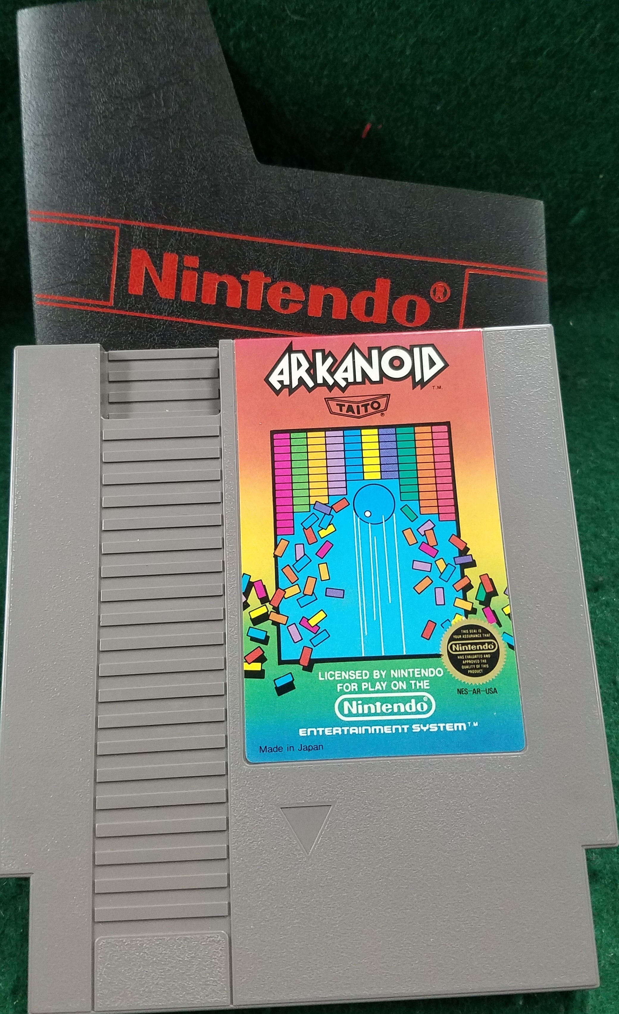 ORIGINAL NINTENDO ARKANOID GAME