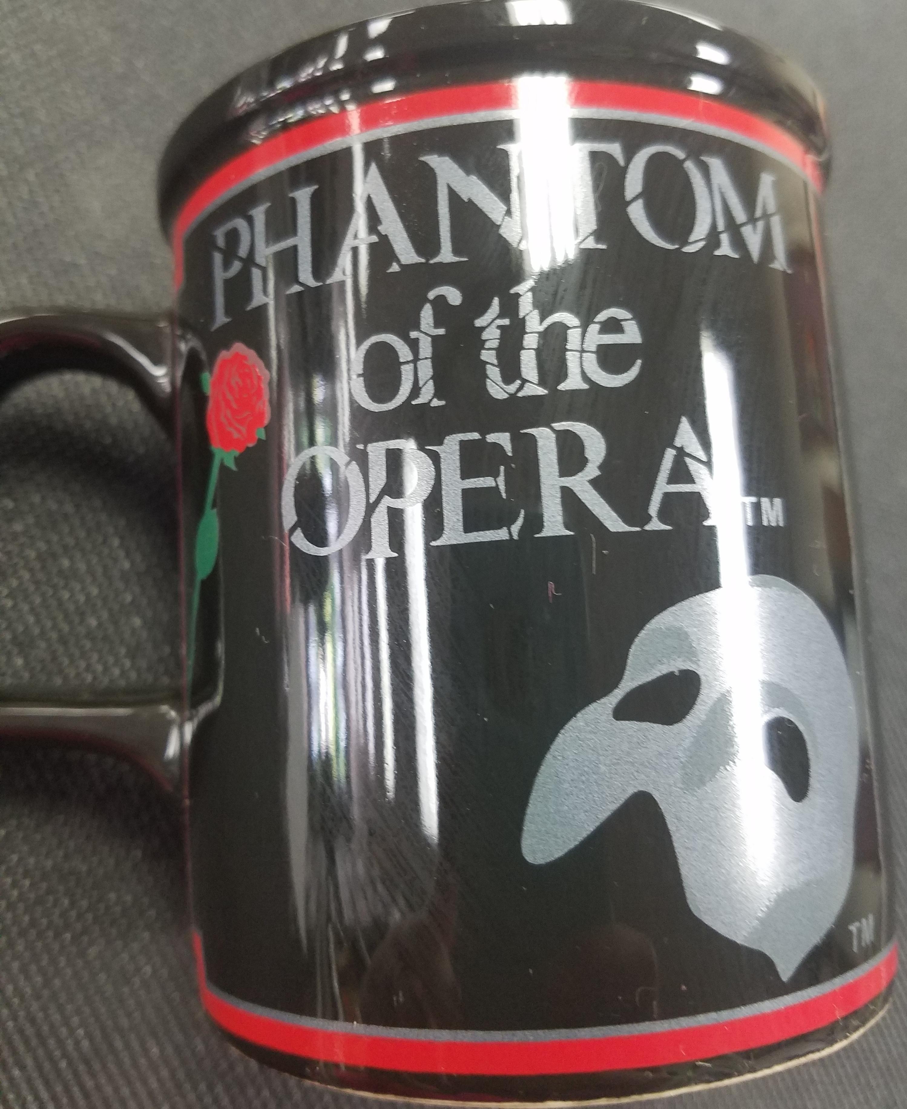 1988 PHANTOM OF THE OPERA COFFEE CUP