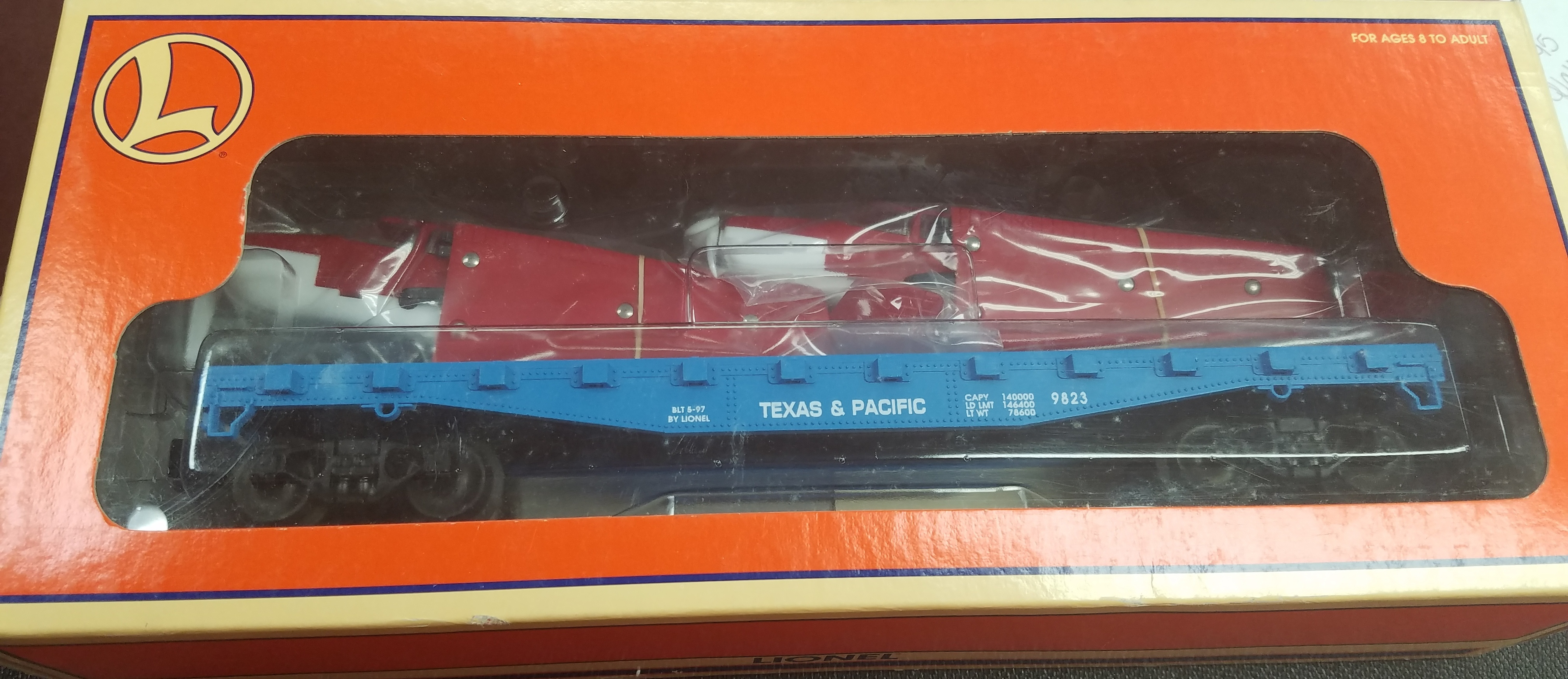 LIONEL  9823 TEXAS AND PACIFIC FLAT CAR