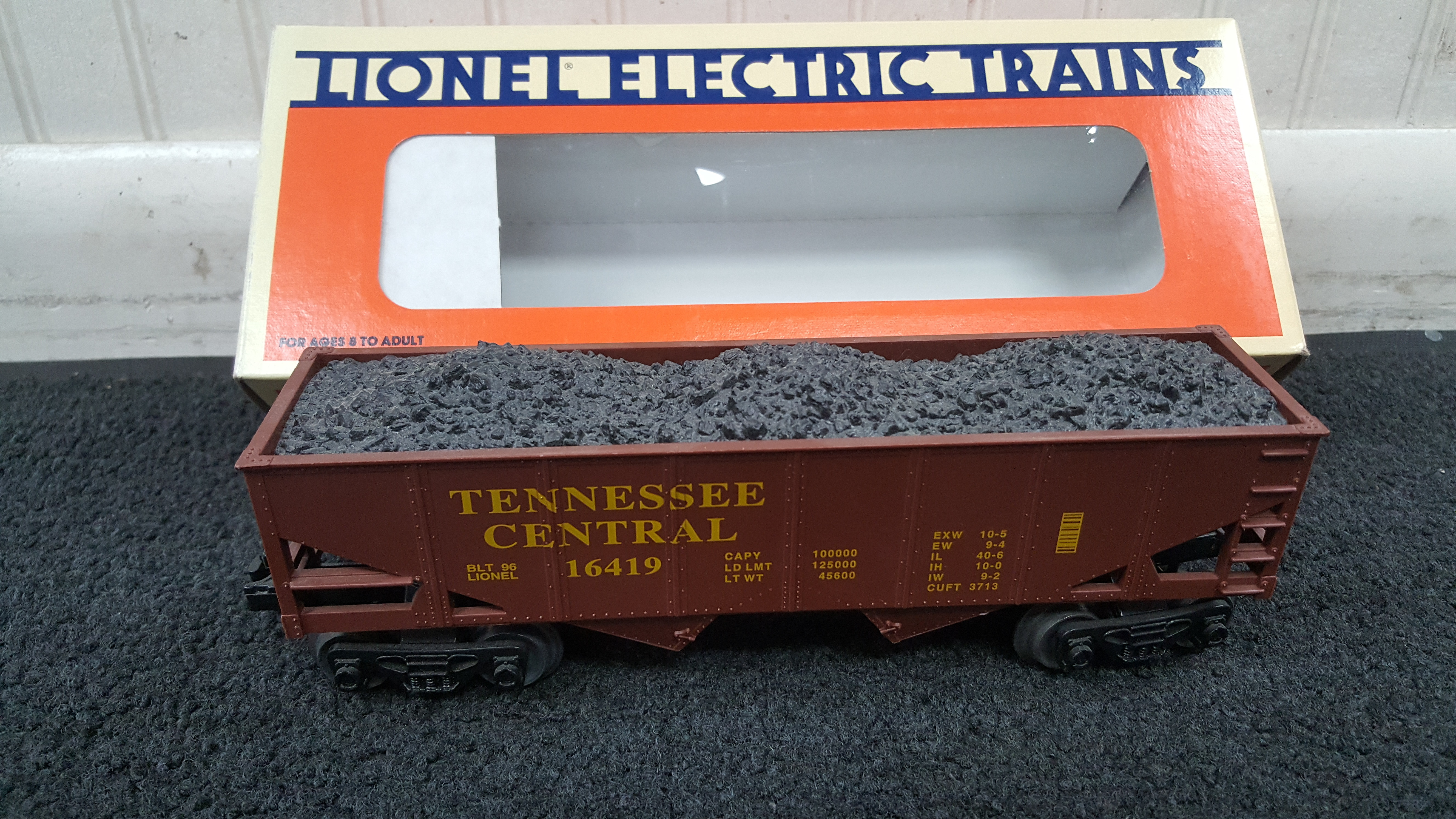 LIONEL 6-16419 TENNESSEE CENTRAL HOPPER WITH BOX