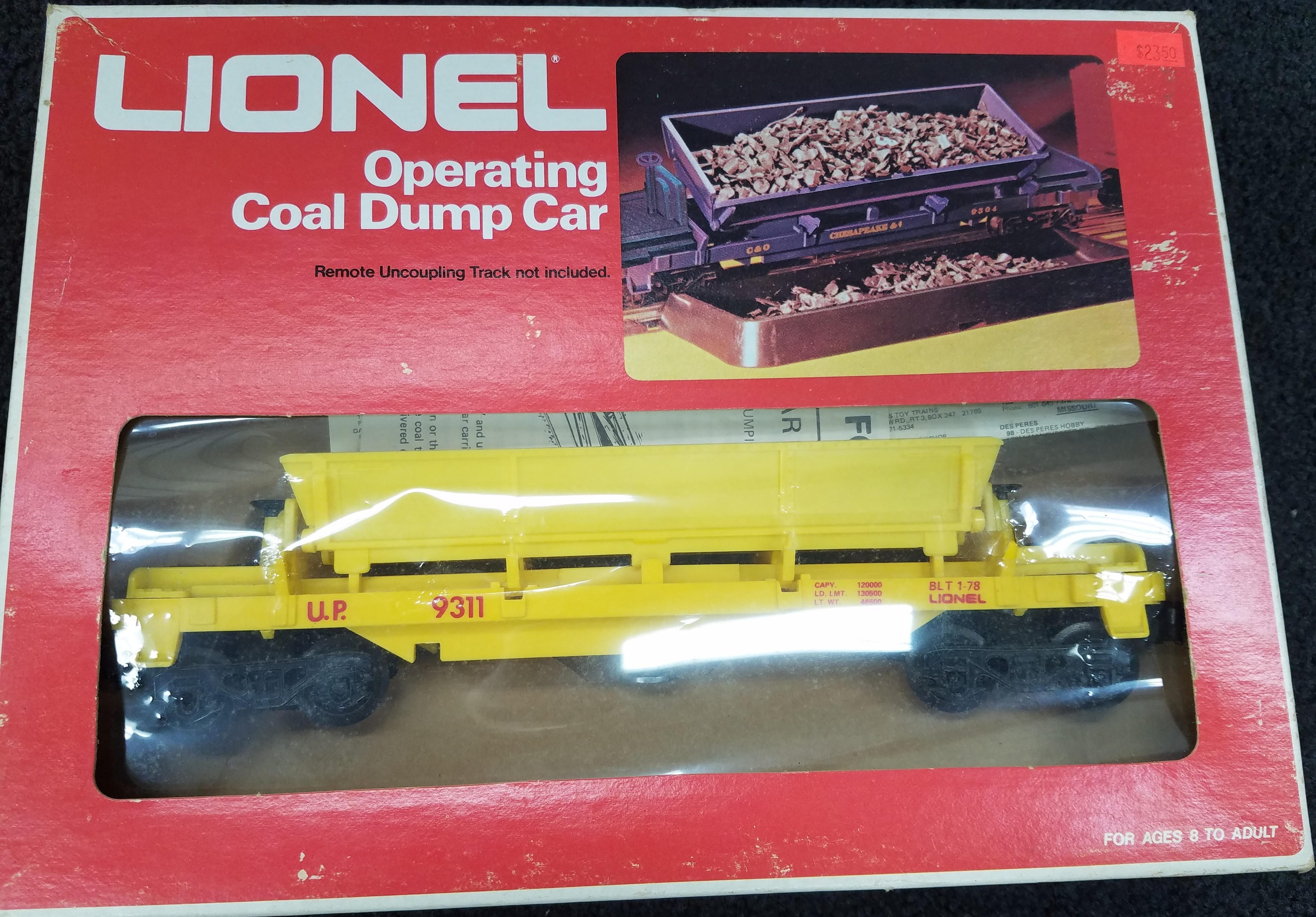 LIONEL 6-9311 OPERATING COAL DUMP CAR