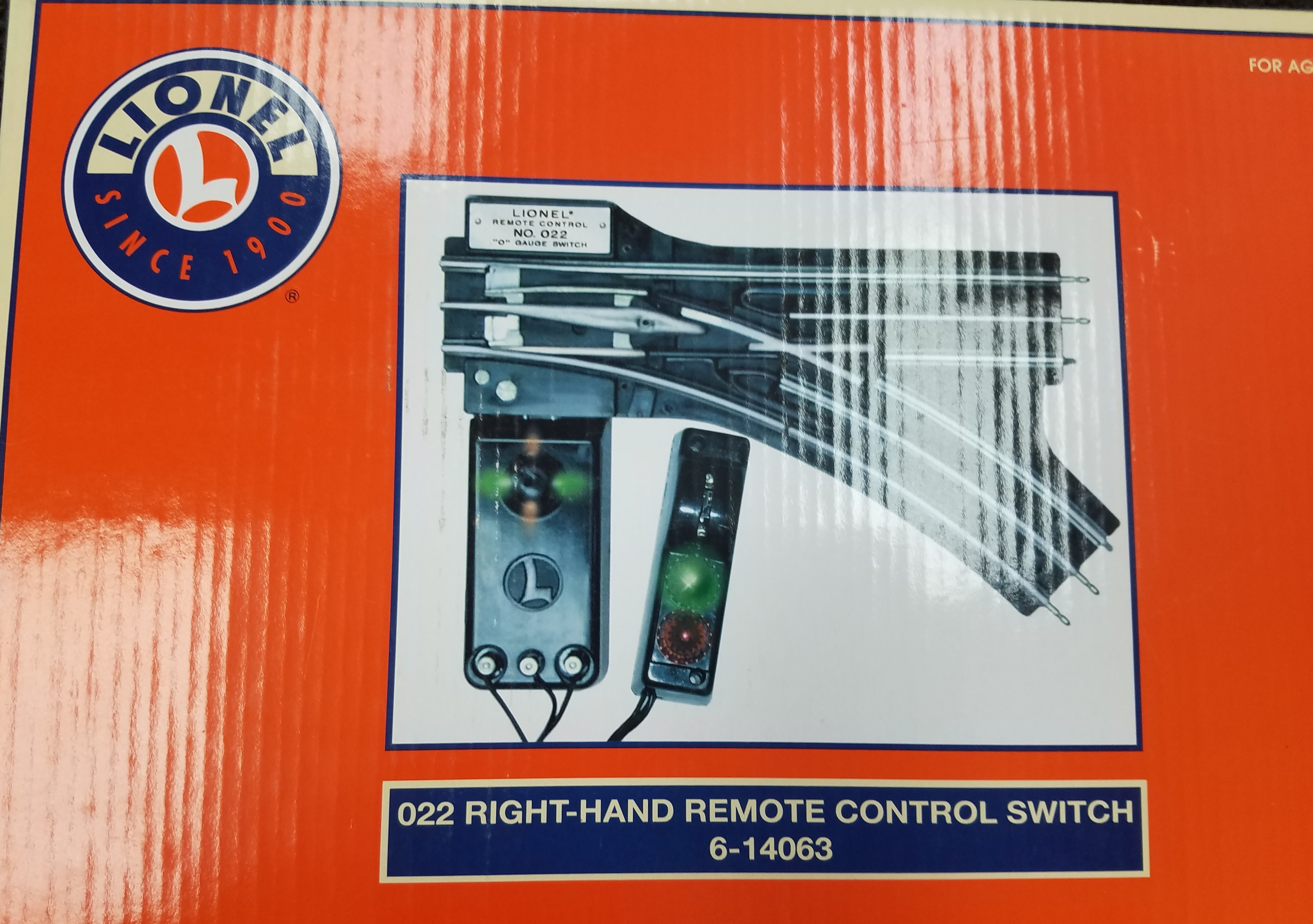 LIONEL  6-14063 RIGHT HAND SWITCH