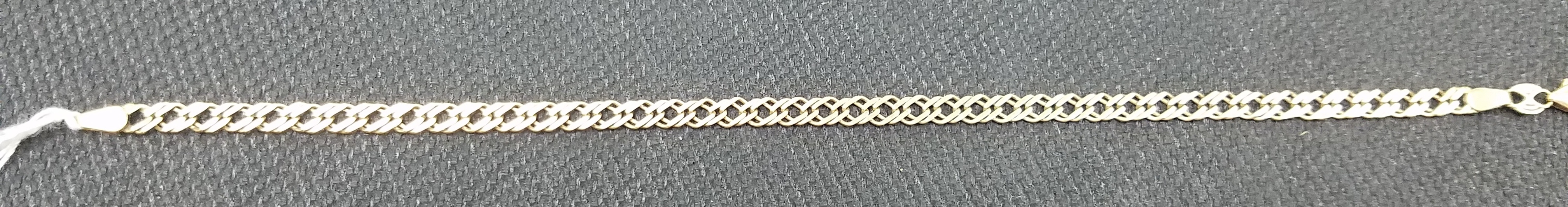 14KT GOLD 2.50DWT DOUBLE CURB YELLOW GOLD BRACELET