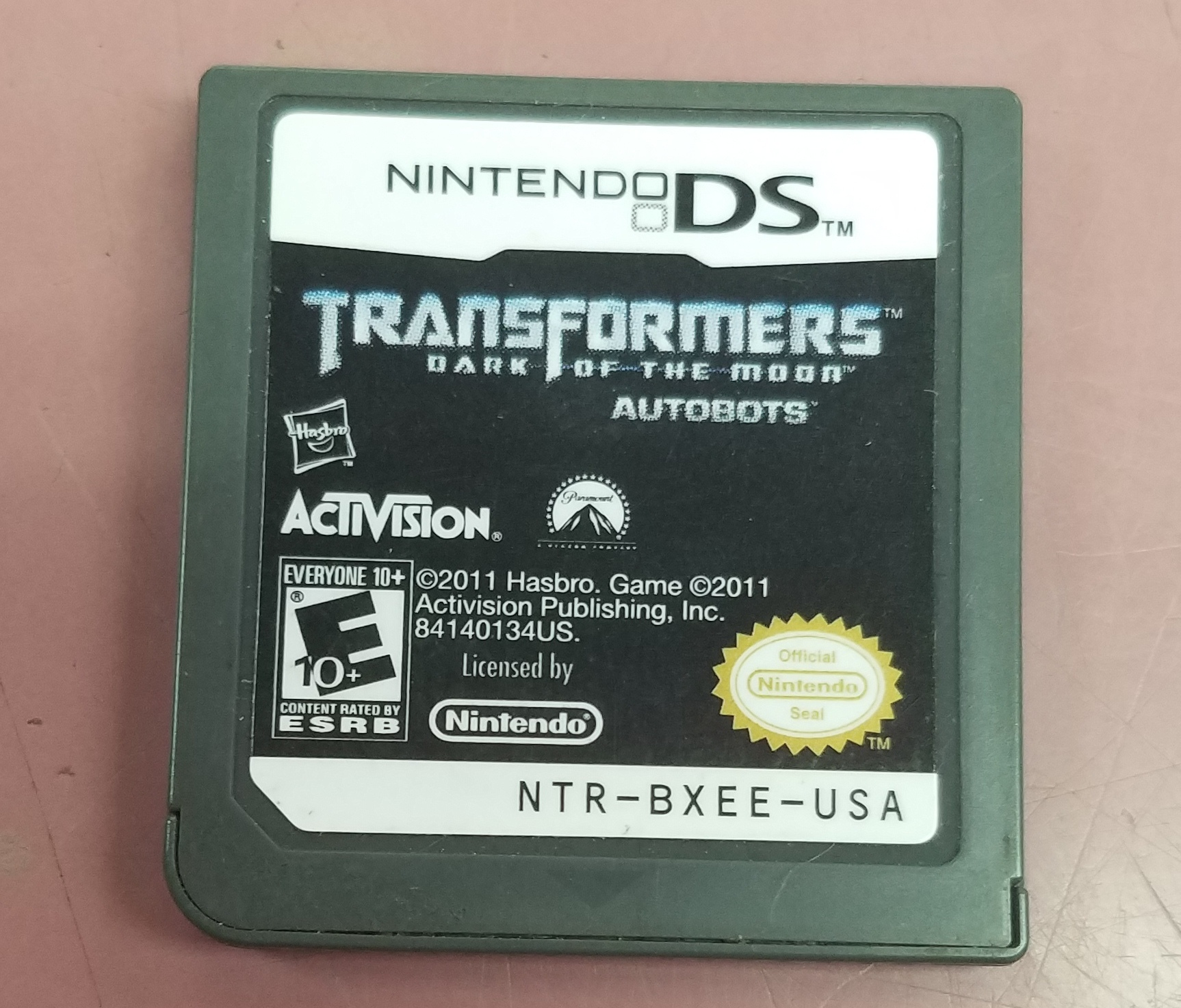 NINTENDO DS TRANSFORMERS DARK OF THE MOON