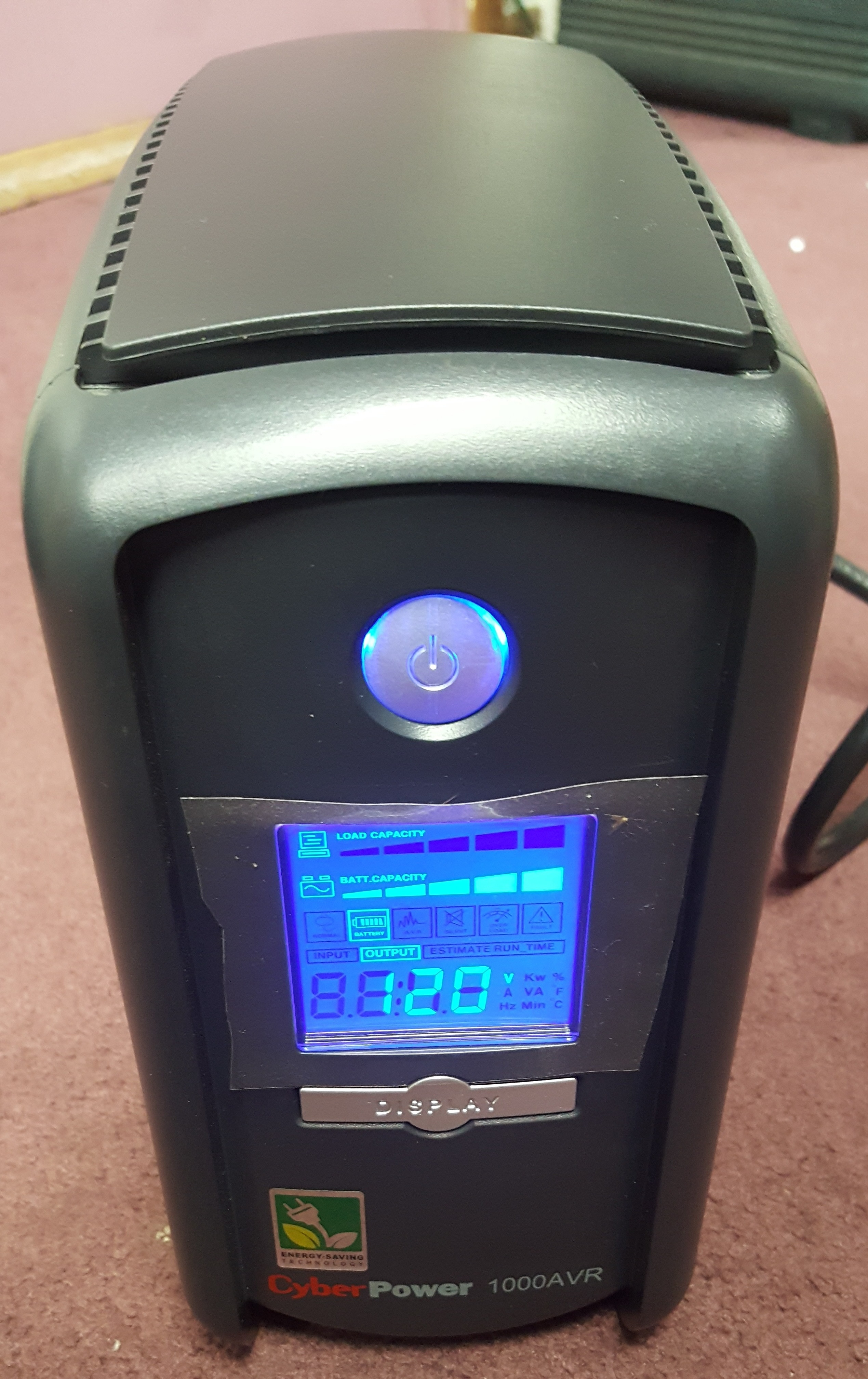 CYBERPOWER 1000AVR UPS 9 OUTLETS 1000/600W