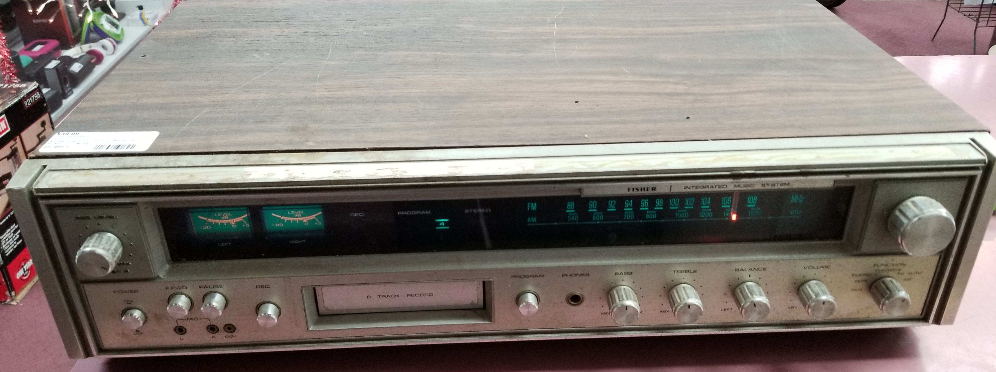 FISHER MC3010 INTEGRATED MUSIC SYSTEM 70S-80S