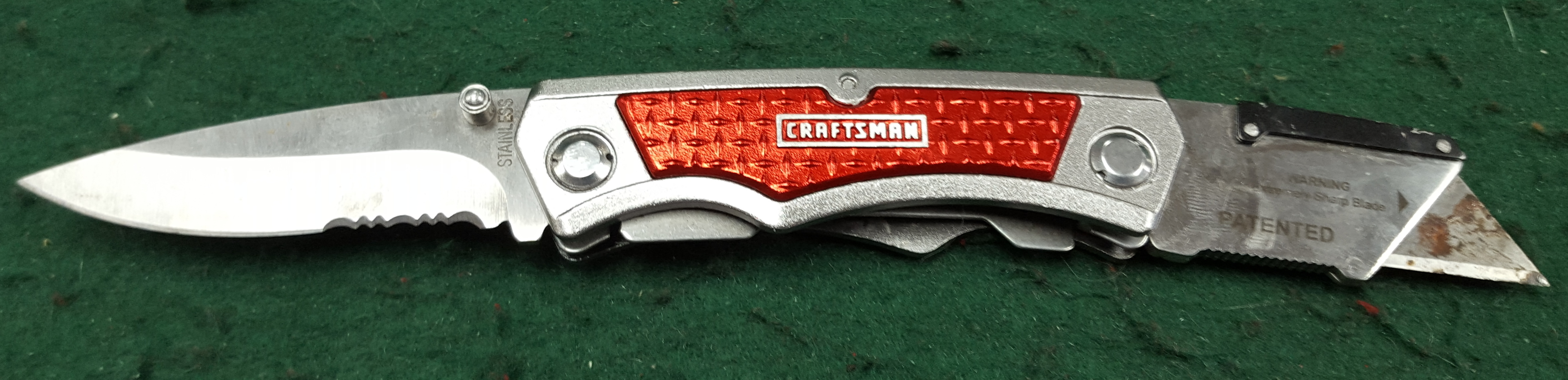 CRAFTSMAN UTILITY KNIFE COMBO IN NYLON SHEATH
