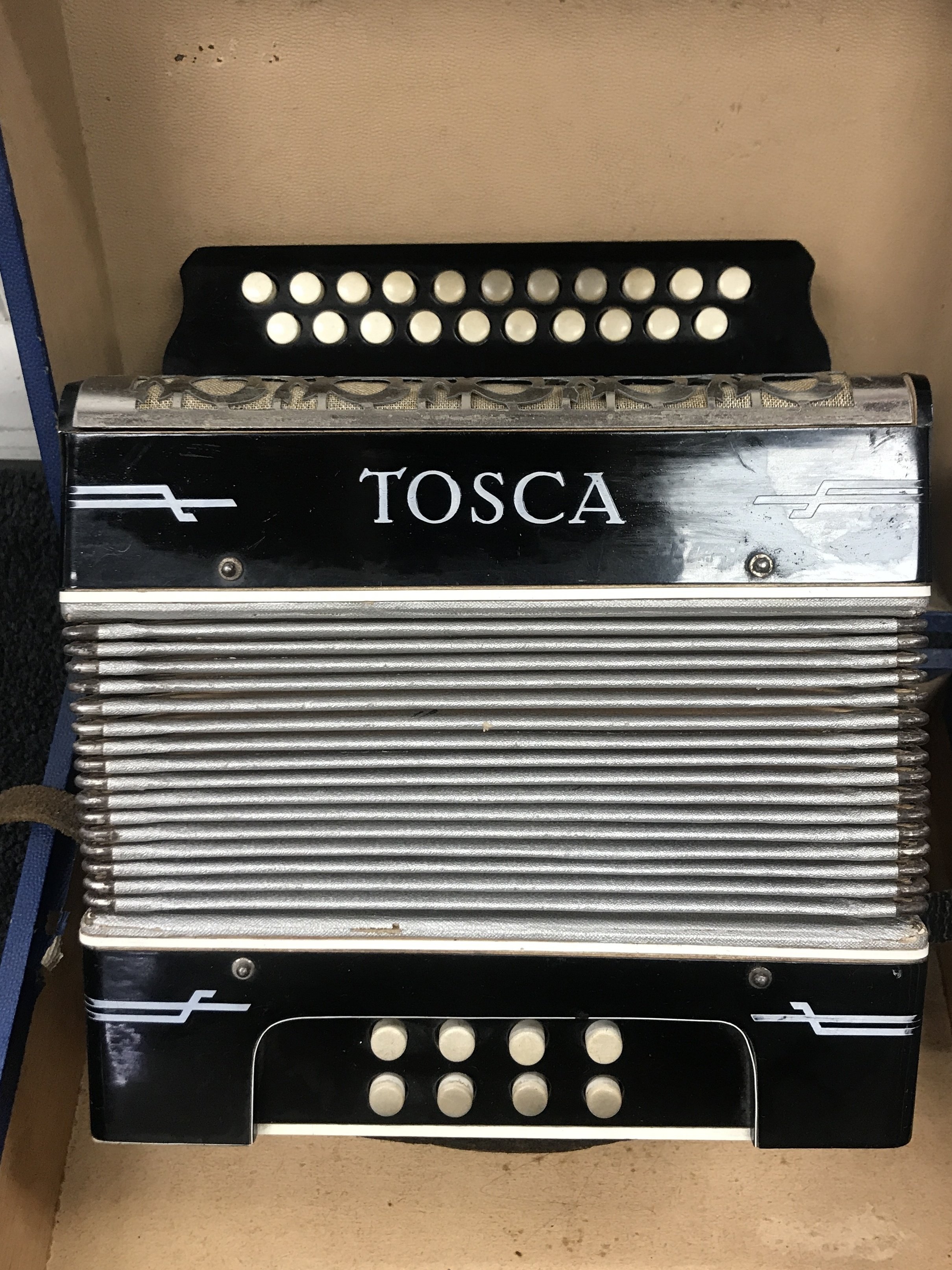 TOSCA ACCORDIAN IN CASE