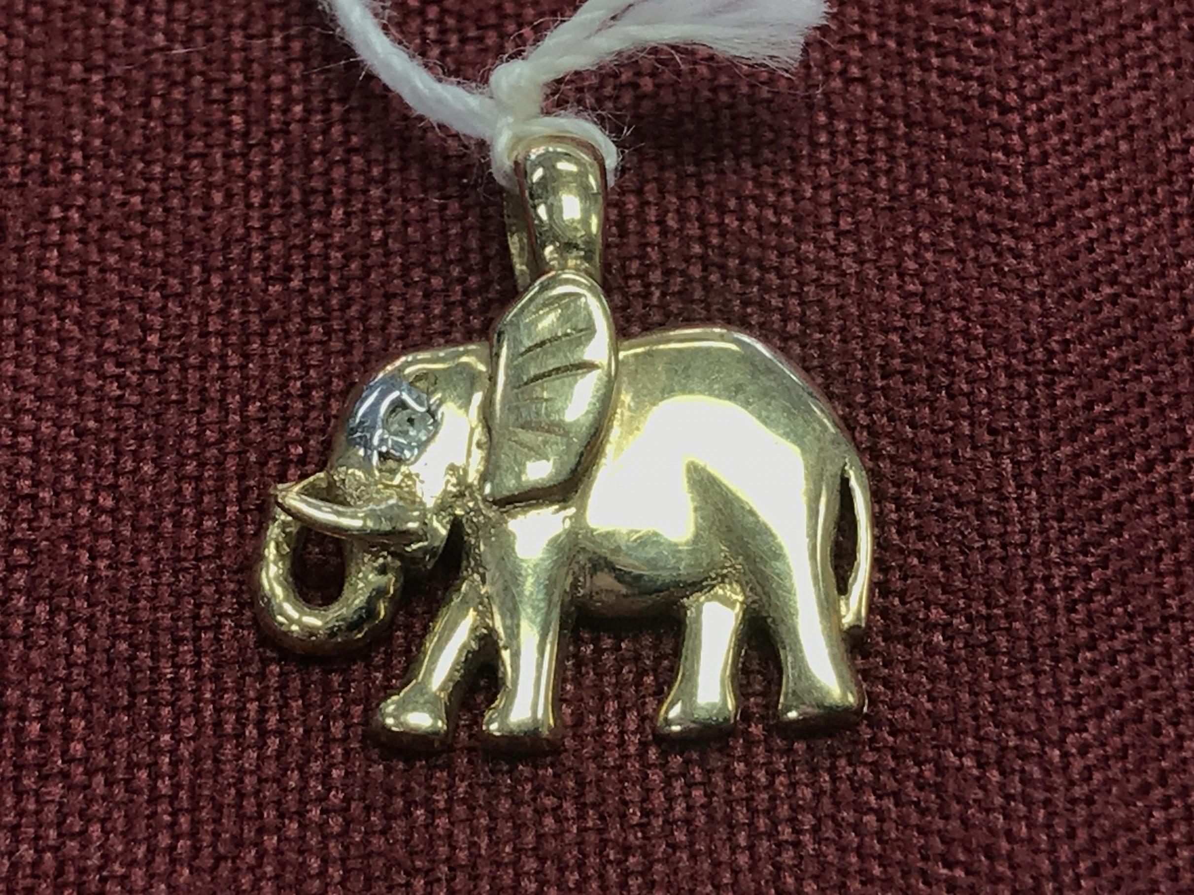 10KT YG ELEPHANT CHARM