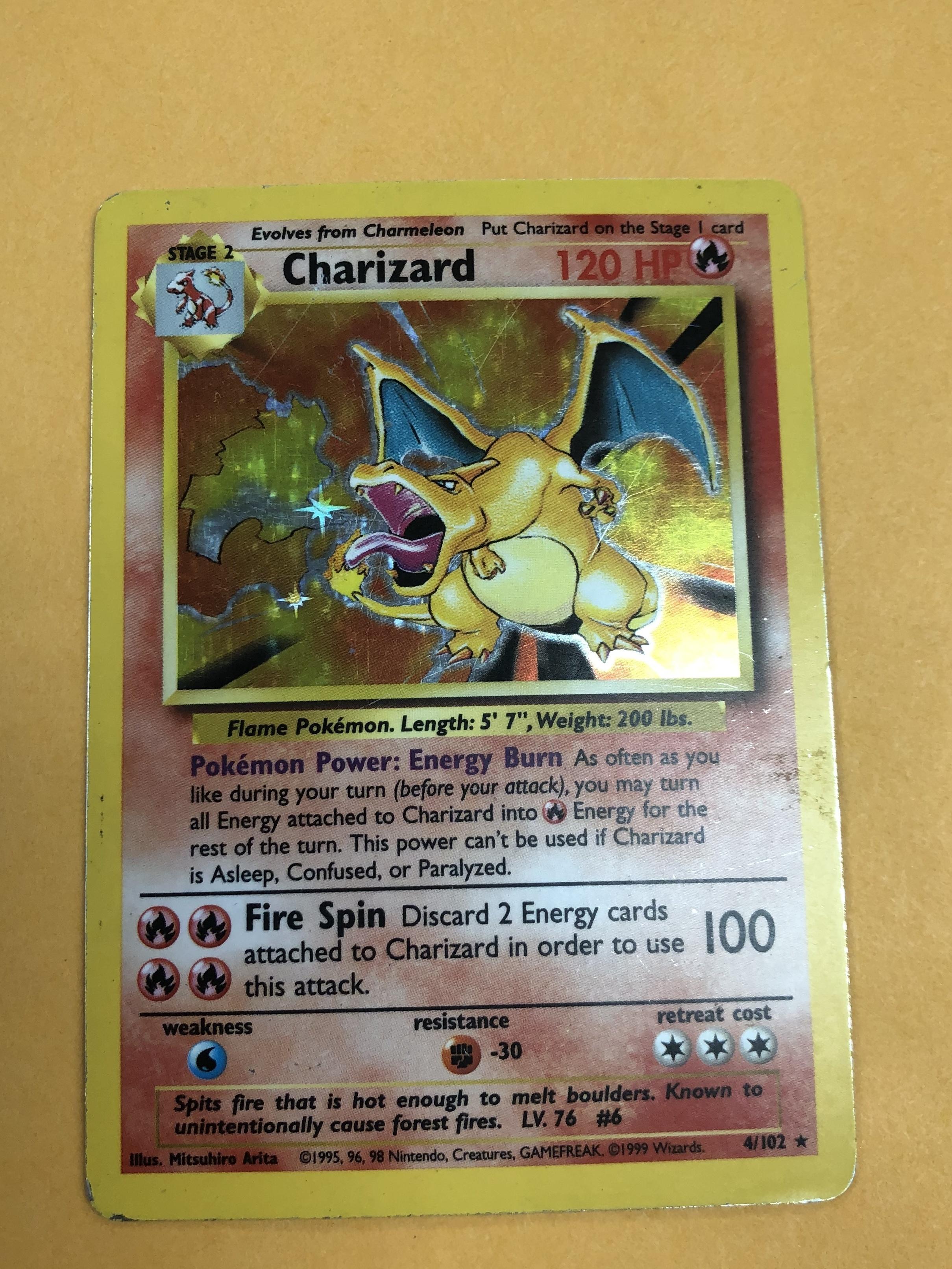 Charizard 4/102 1995 HP UNLIMITED