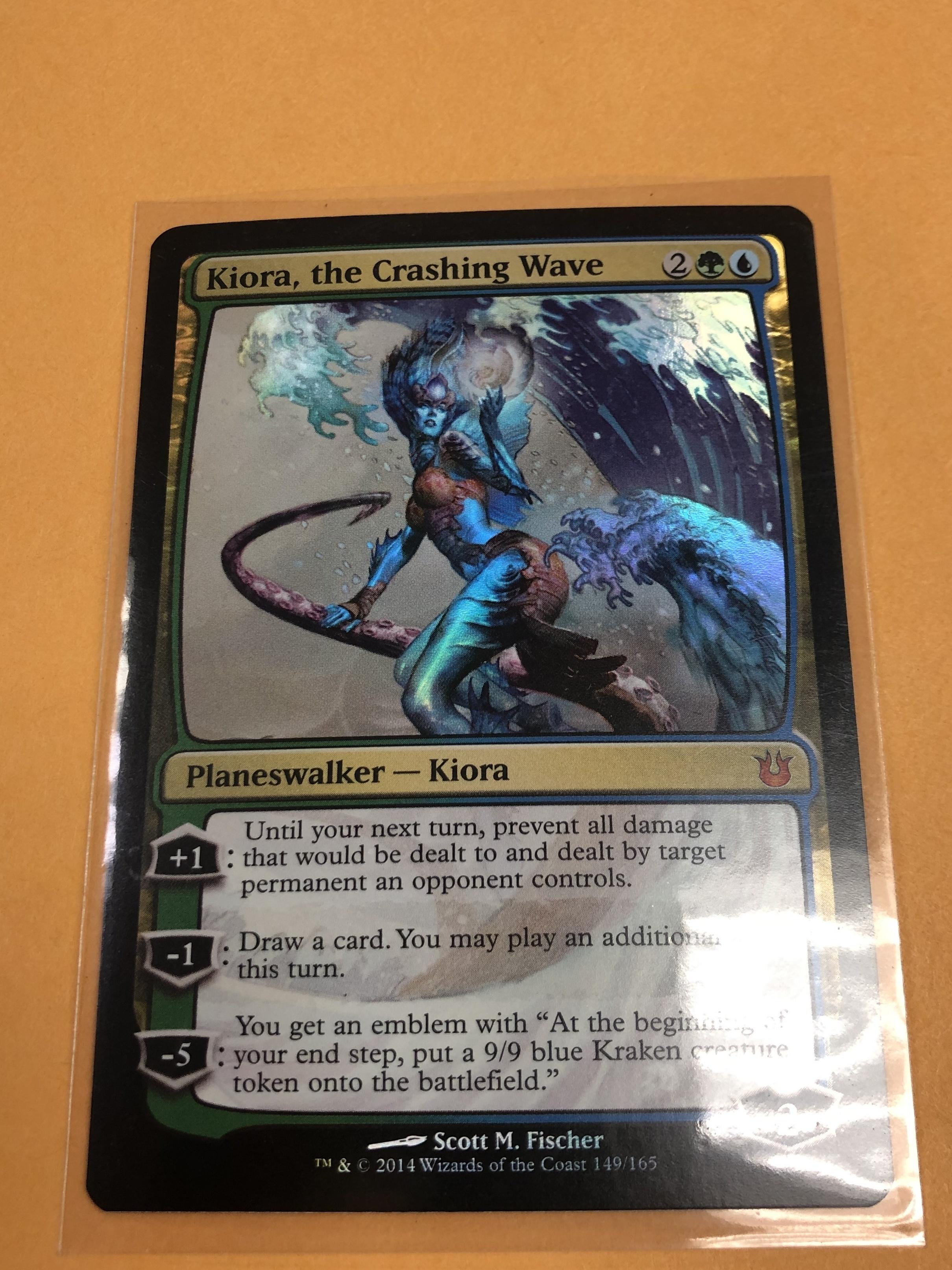 KIORA, THE CRASHING WAVE FOIL NM