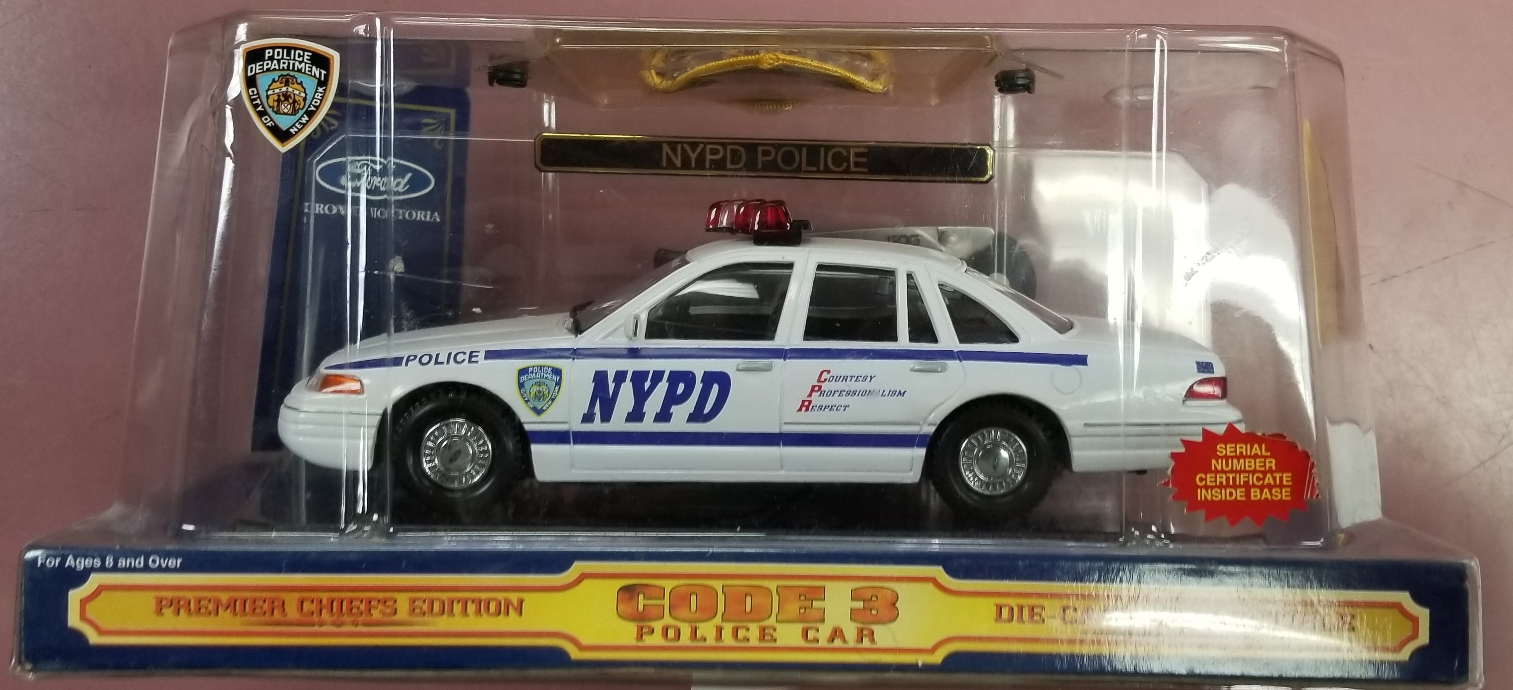 CODE 3 NYPD COP CAR IN BOX