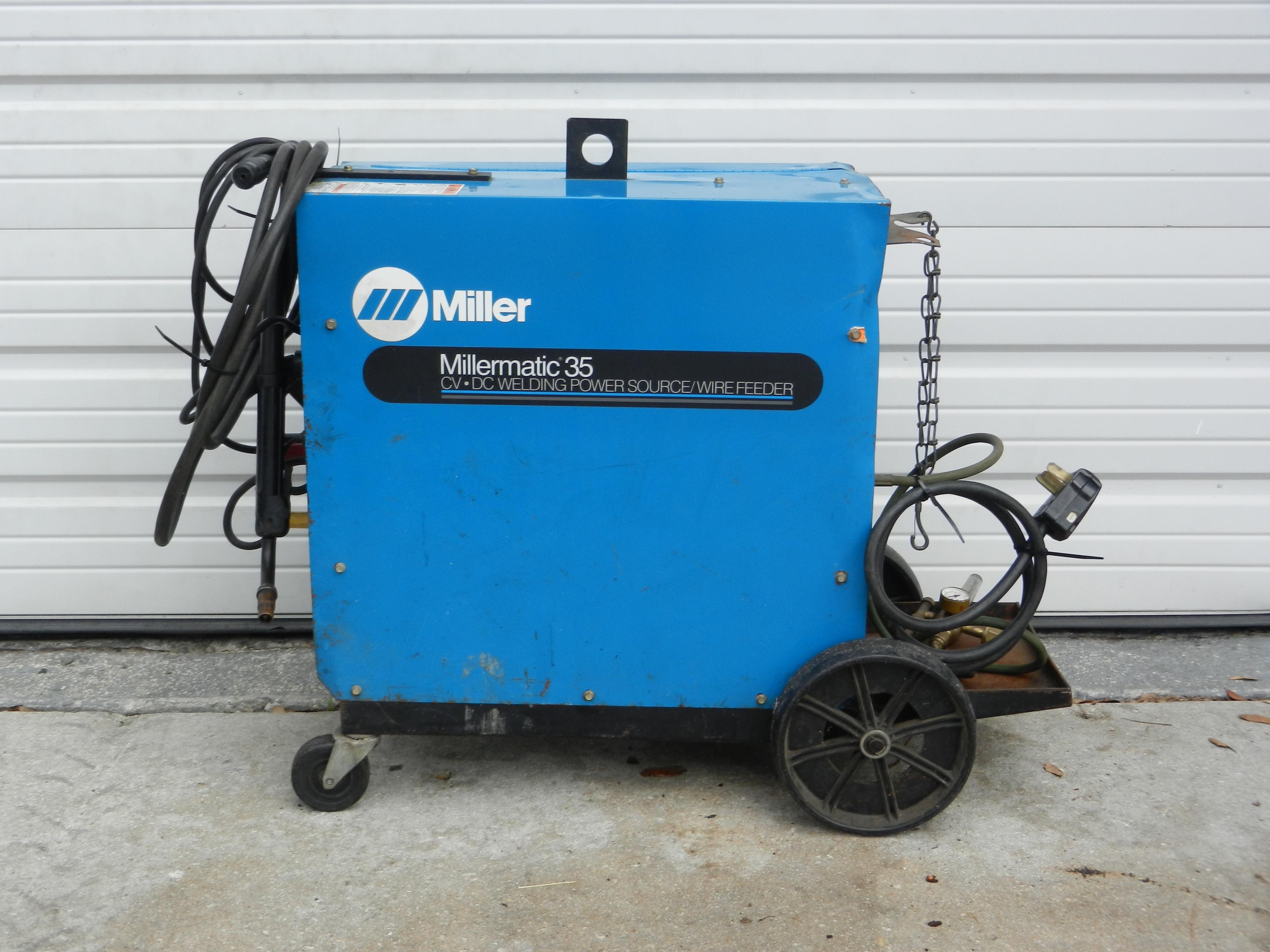 Millermatic 35 MIG Welder Power Source / Wire Feeder System