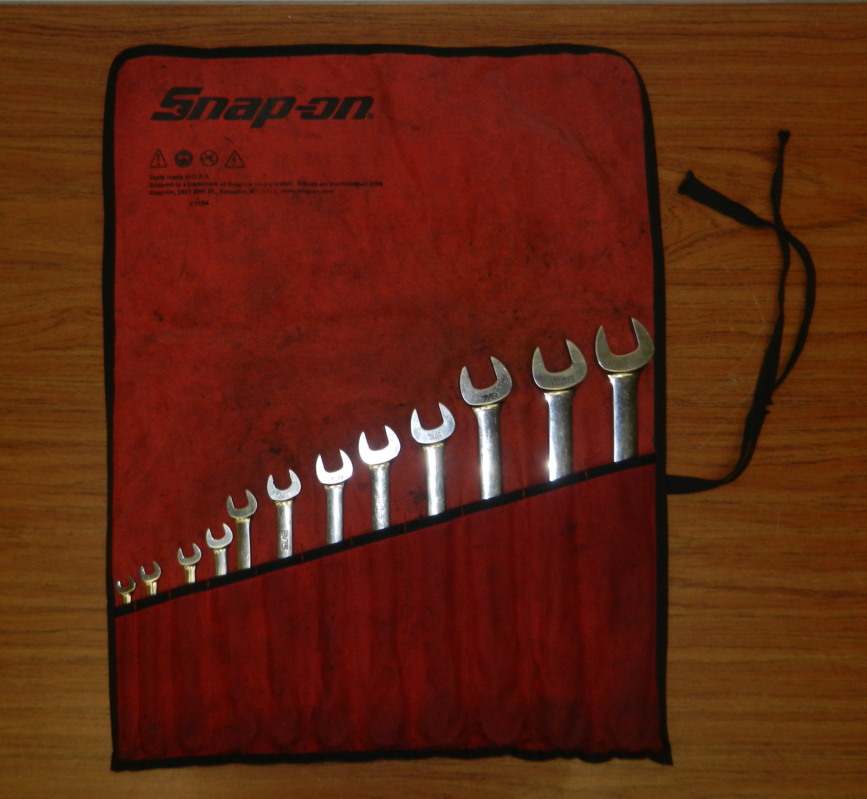 Snap-On Standard Handle 12 Pt. SAE Combination Wrench Set (11 pcs.) #OEX711