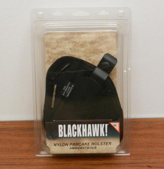 NEW BLACKHAWK AMBIDEXTROUS NYLON PANCAKESIZE 05 HOLSTER 40PC05BK