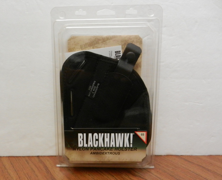 BLACKHAWK! Ambidextrous 3-Slot Pancake Black Nylon Holster Sz. 3 40PC03BK USA