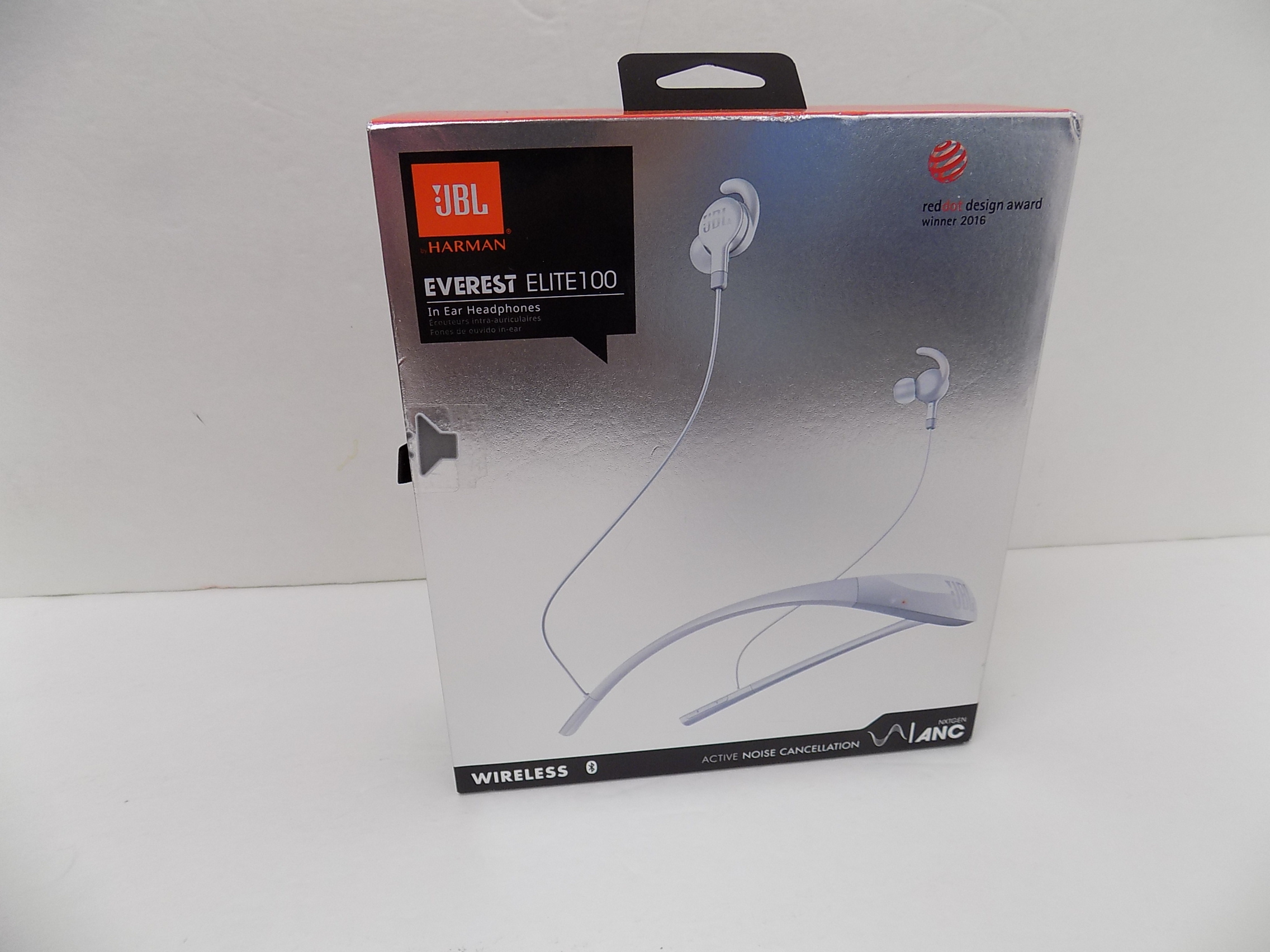 JBL Everest Elite 100 Wireless In Ear Headphones Noise Cancelling White V100NX