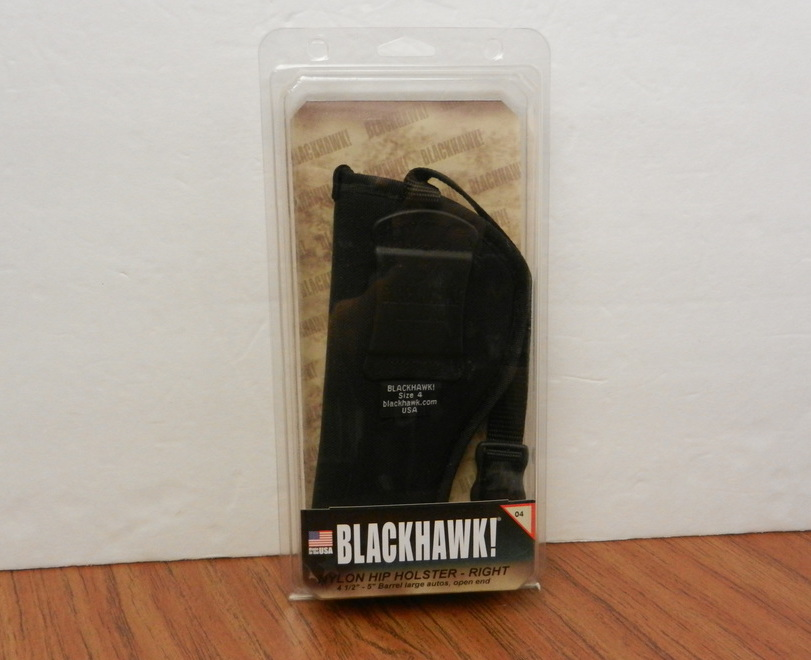 BLACKHAWK! Right Hip Nylon Adjustable Black Holster SZ.4 73NH04BK-R USA