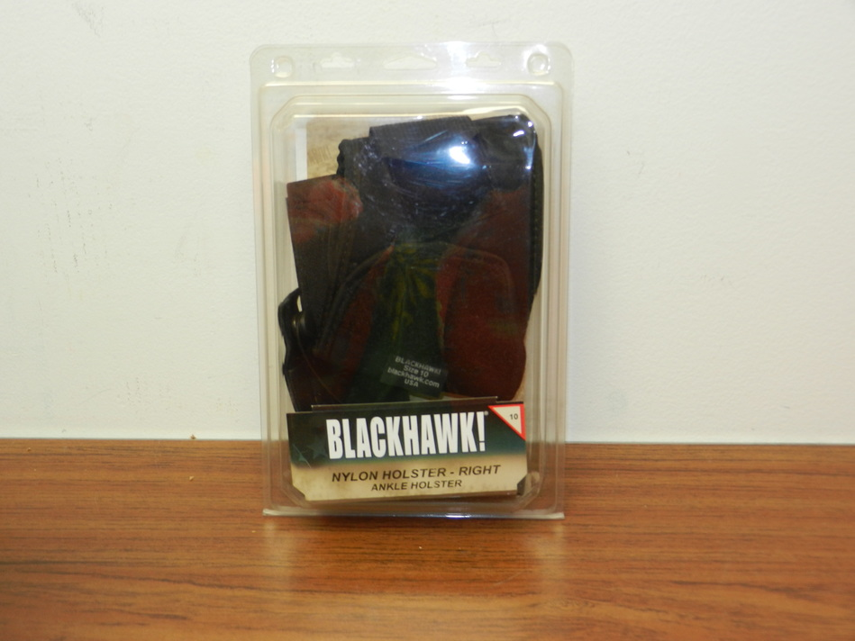 Blackhawk Ankle Right Holster 40AH10BK-R 26, 27, 33 sub-compact 9mm .40