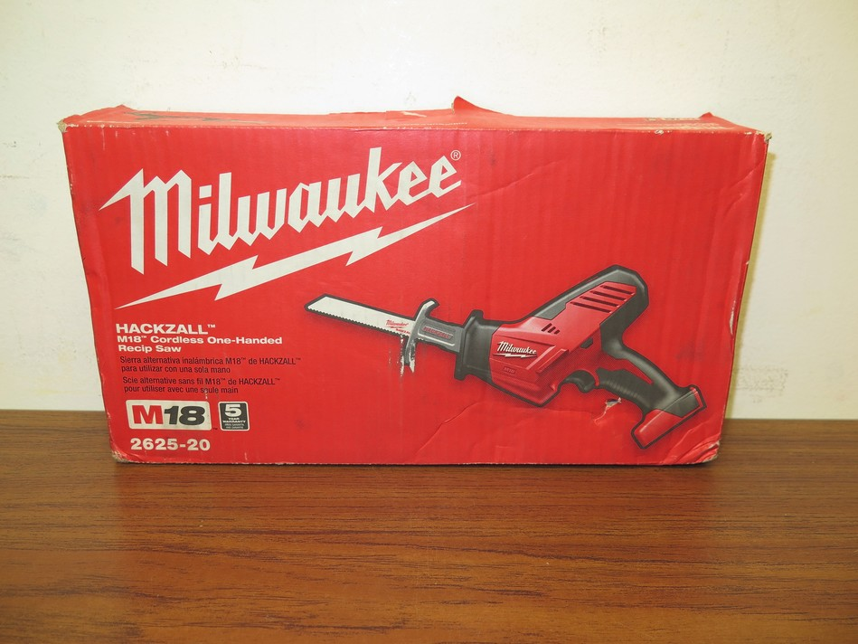 Milwaukee 2625-20 M18 18V Hackzall One-Handed Reciprocating Saw (Tool Only)