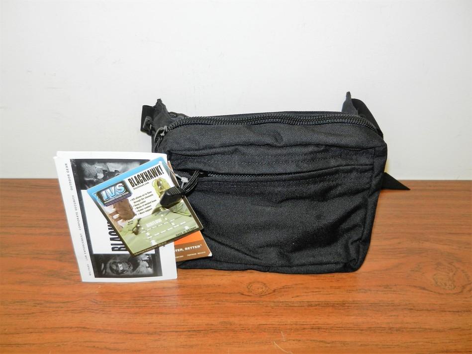 BLACKHAWK! CONCEALED WEAPON FANNY PACK AMBIDEXTROUS BLACK W/ HOLSTER & BELT LOOP
