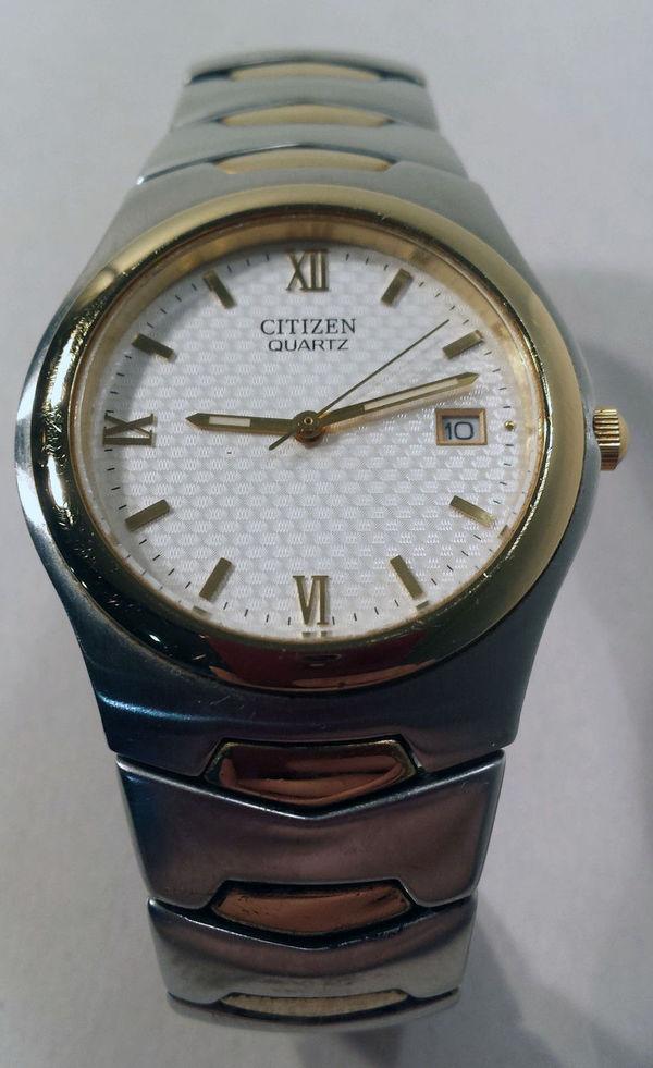 e218ebe0b18f Detalles acerca de Vintage Citizen dos tonos con reloj de cara Blanco  GN-0-S 2510-H29808- mostrar título original