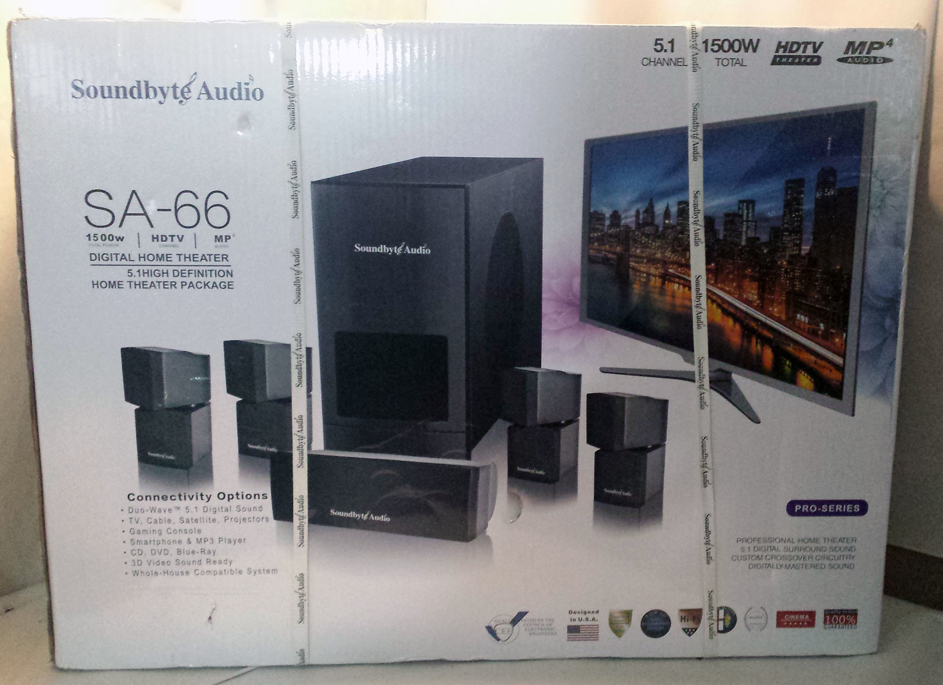 Soundbyte Audio Home Theater System SA-66 Brand New - Open Box