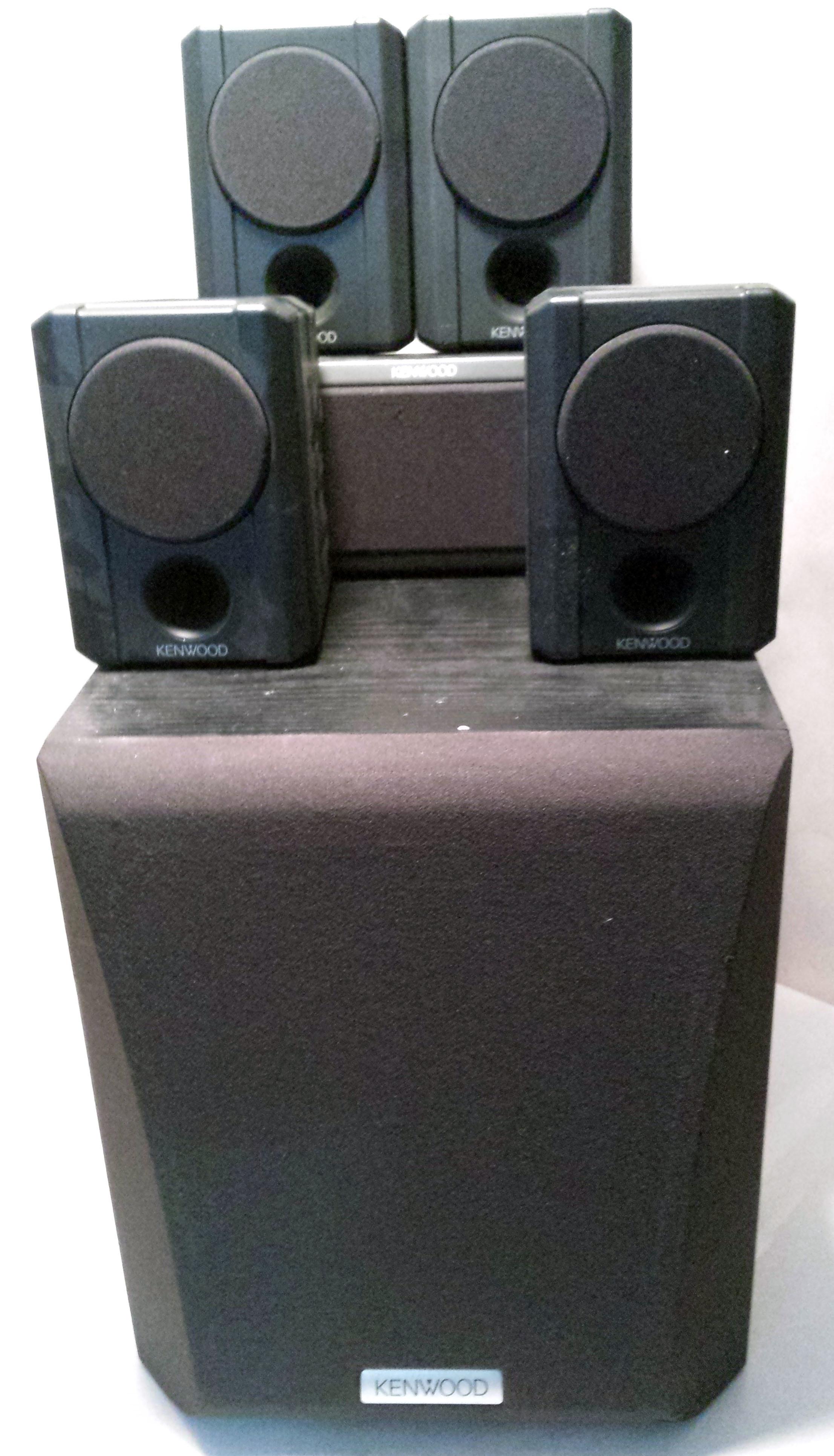 Genuine Kenwood (KS-206HT) 5 Channel Speaker Set with SW-15HT Subwoofer