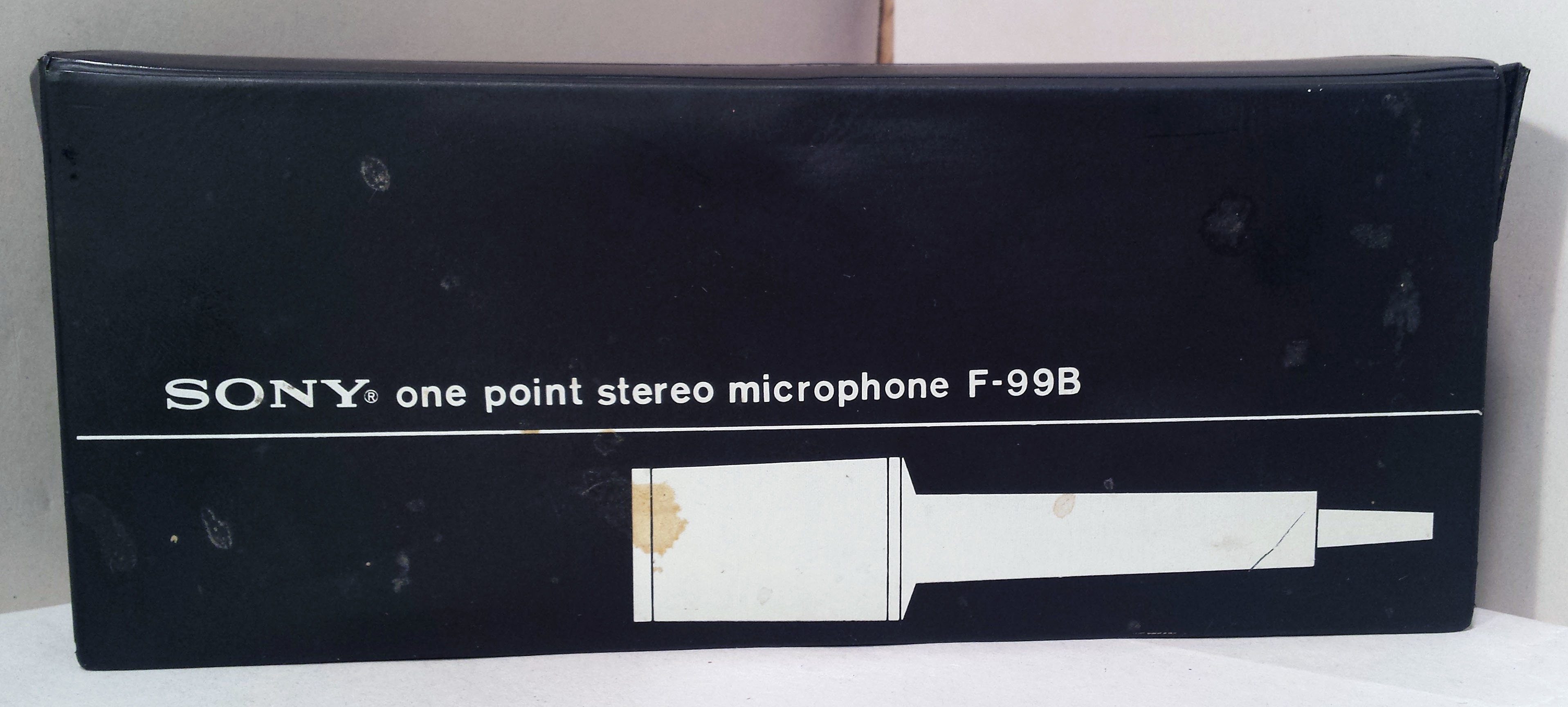 Vintage Sony F-99B One Point Stereo Dynamic Microphone In Orig Box - Complete