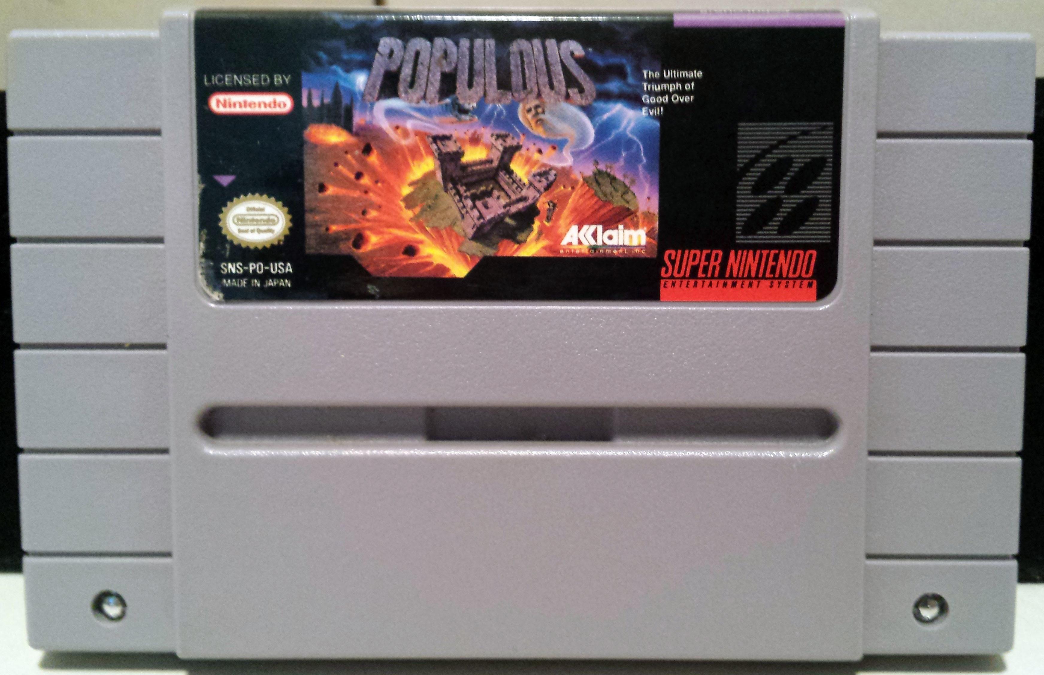 Populous (Super Nintendo Entertainment System, 1991) SNES - Cart Only
