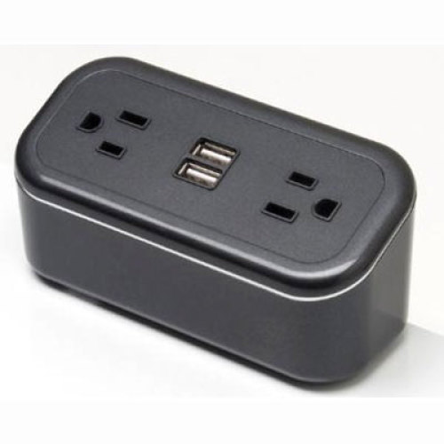 Cubiemini Charging Station Power Panel with Surge Protection - Black