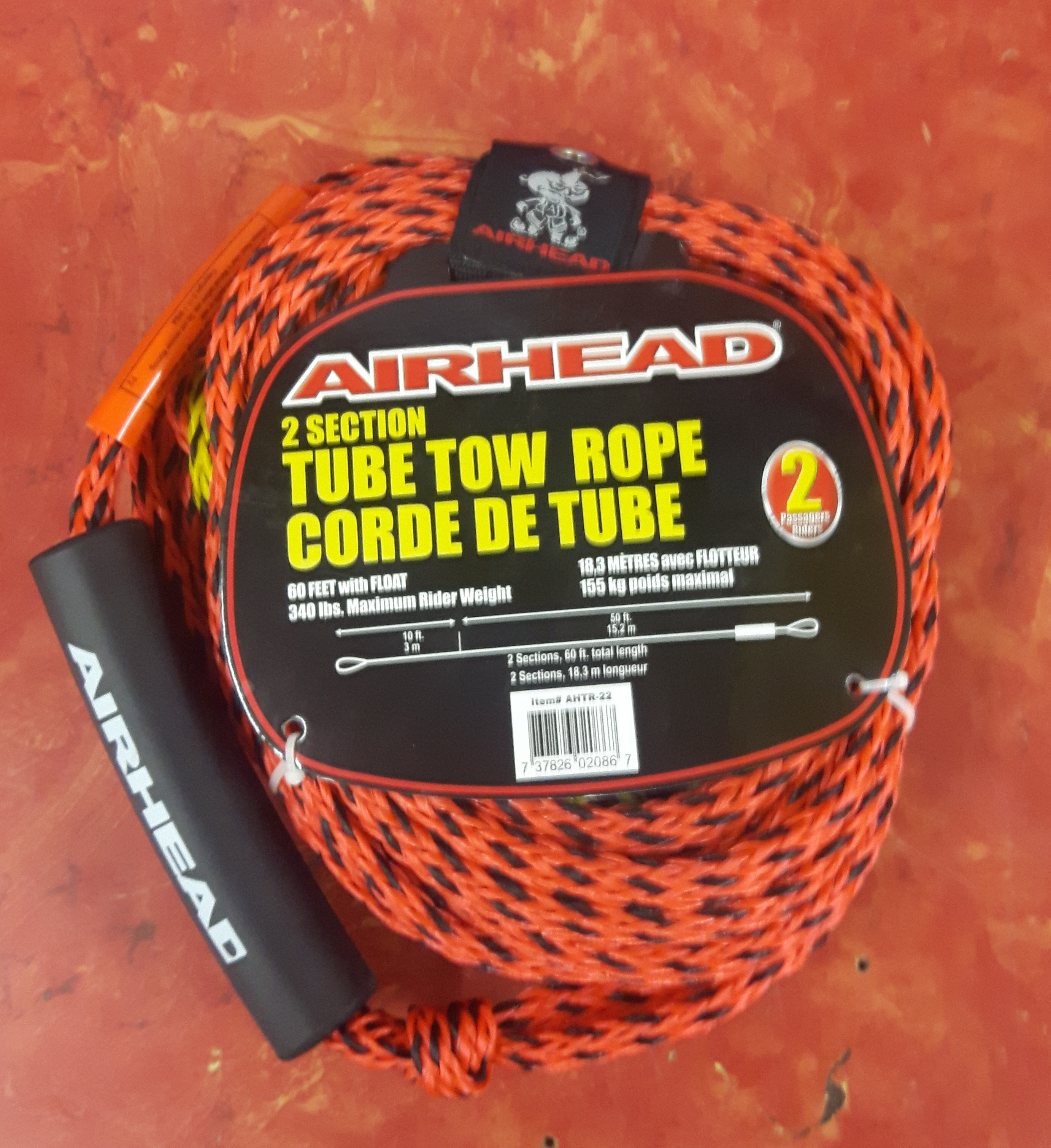 AIRHEAD - TUBE TOW ROPE - WATER TUBE SPORTING EQUIPMENT ROPE