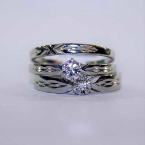 Ladies Diamond Ring Set