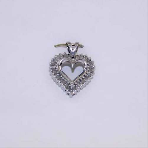 LADIES DIAMOND HEART CHARM