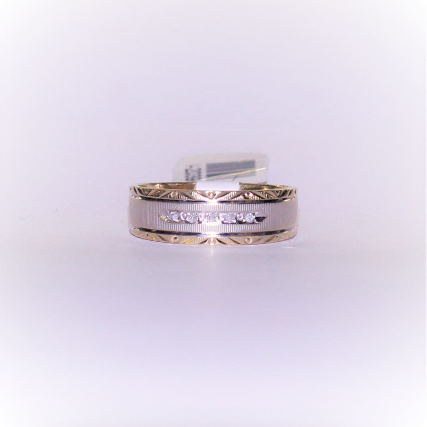MEN'S TWO TONE DIAMOND BAND