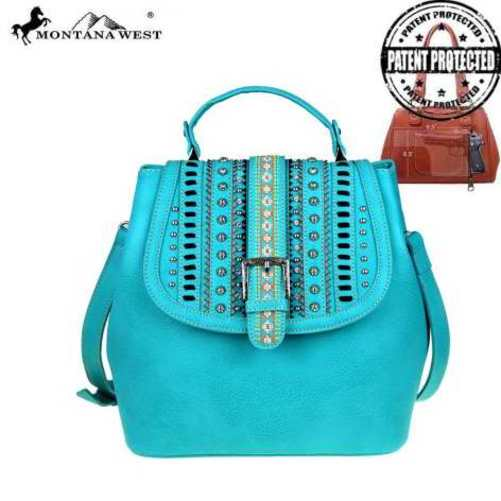 CONCEALED CARRY HANDBAG IN TURQUOUISE - REDUCED! WAS $62.99